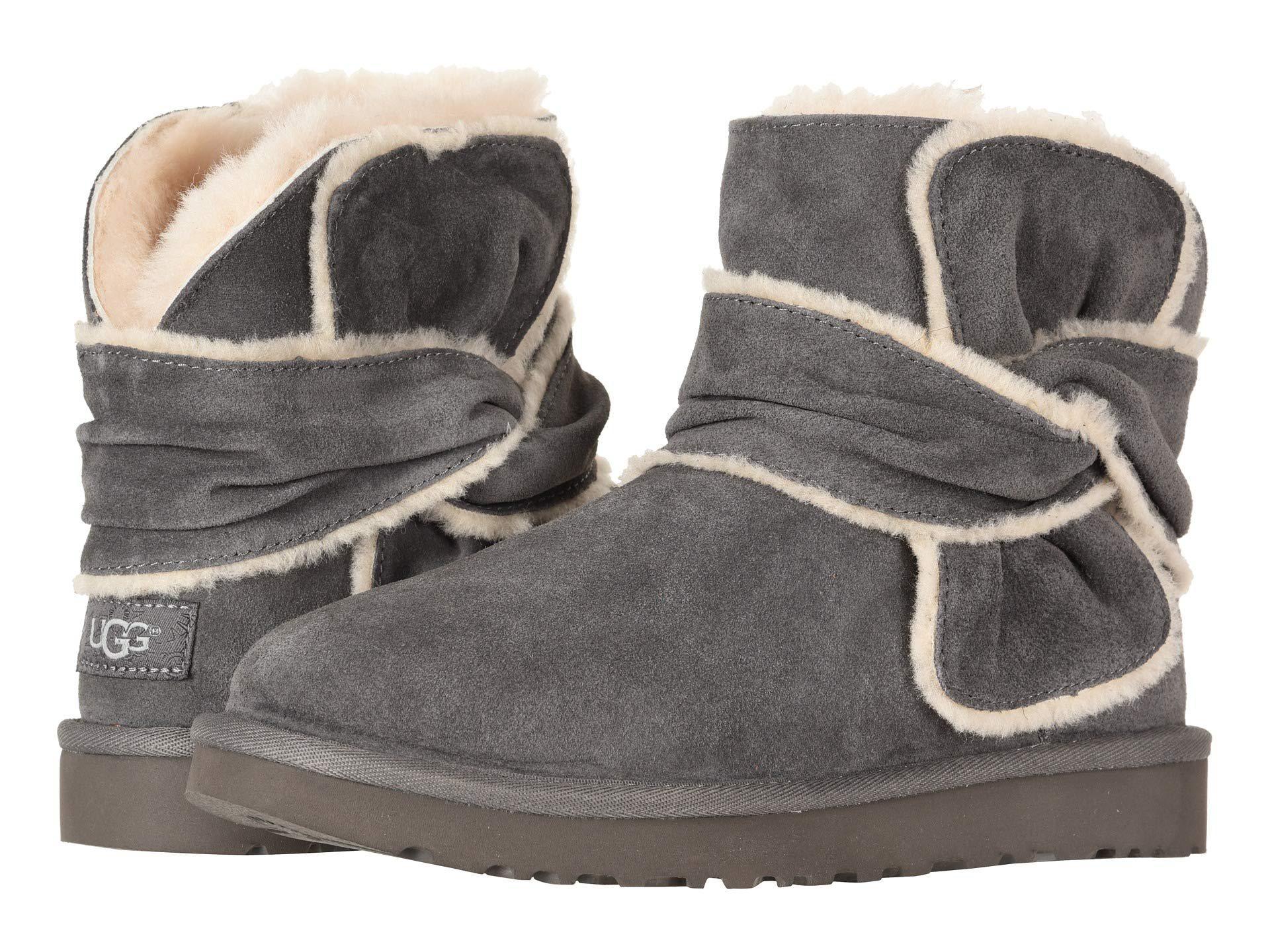 75d14d096e Lyst - UGG Mini Spill Seam Bow (chestnut) Women s Pull-on Boots in Gray
