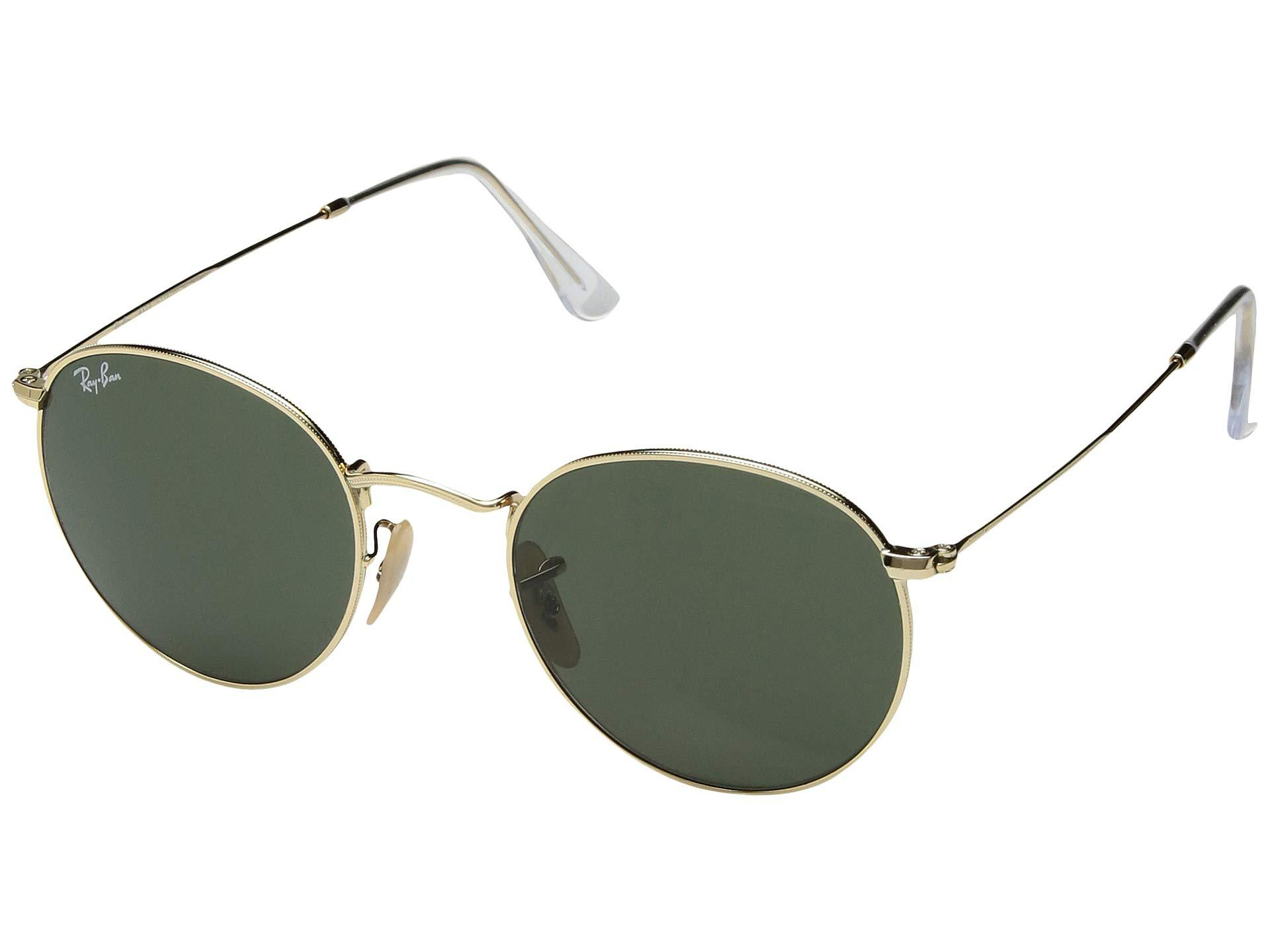 5874b47019e3 Lyst - Ray-Ban 0rb3447 Round Metal 50mm (gold green) Fashion ...