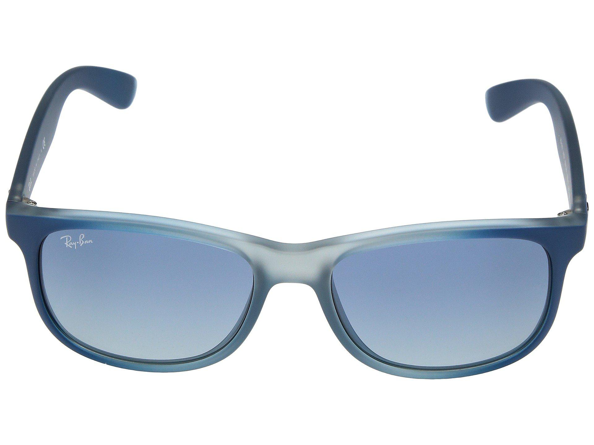 54fcc93e8ec Ray-Ban - Blue Rb4202 Andy 55mm (shiny Black) Fashion Sunglasses for Men.  View fullscreen