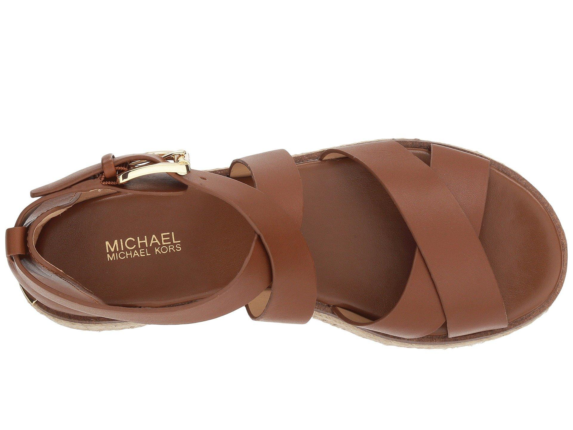 471891fdabd6 MICHAEL Michael Kors - Brown Darby Sandal (Luggage Vachetta 1) Women s  Sandals - Lyst. View fullscreen