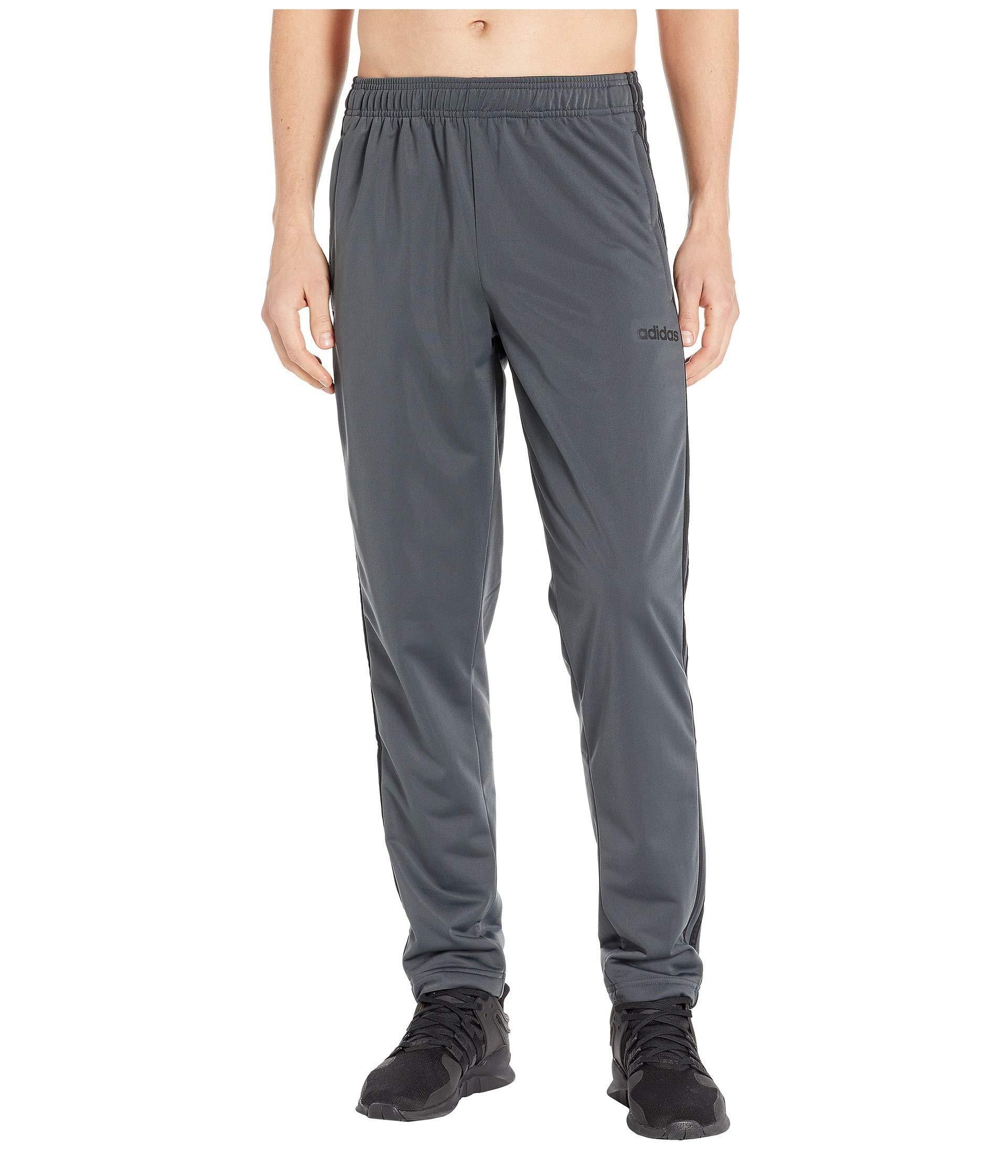 633a73cc3 Adidas - Gray Essentials 3-stripe Tricot Open Hem Pants (black/black). View  fullscreen