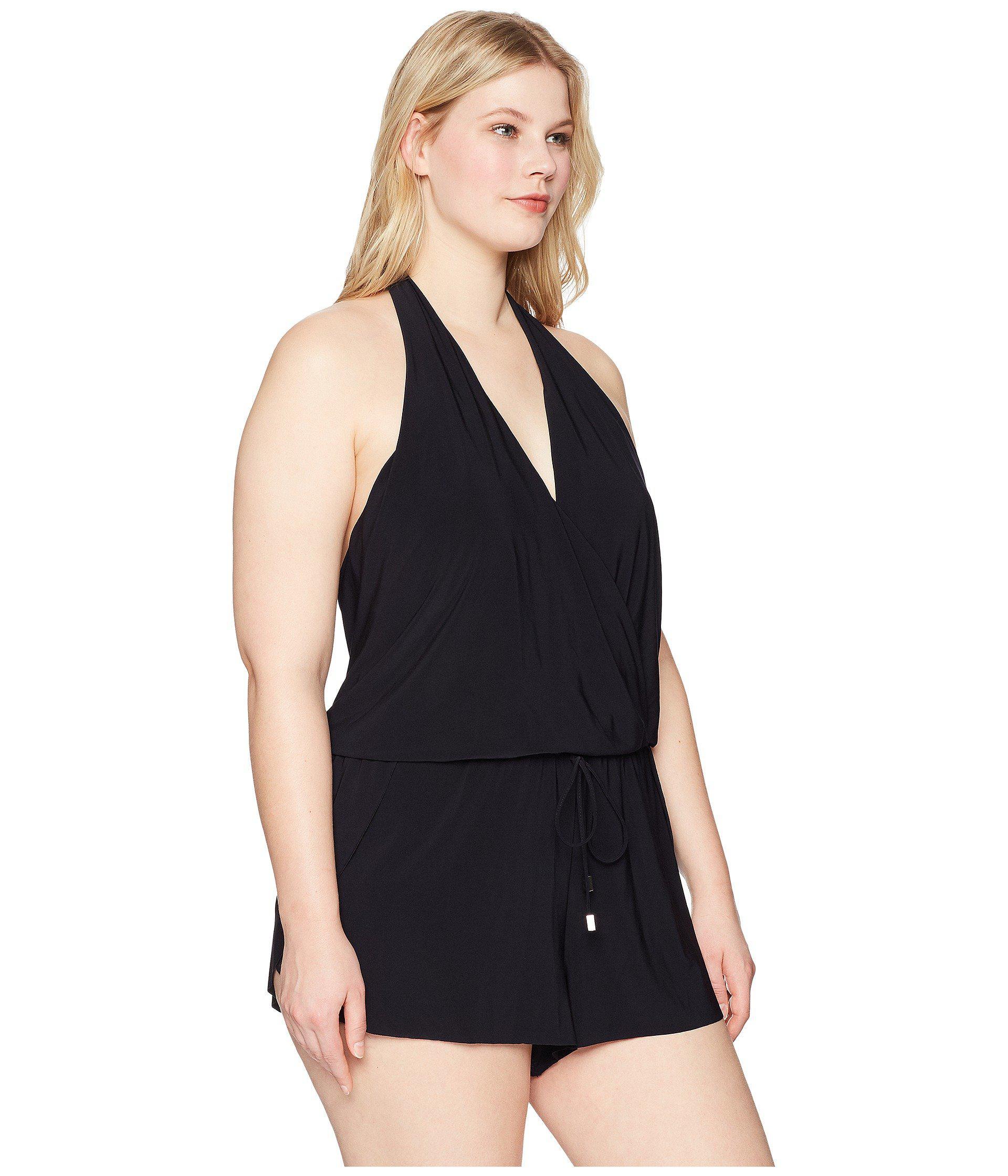 9e9e47fd79b Lyst - Magicsuit Plus Size Solid Bianca One-piece (black) Women s ...