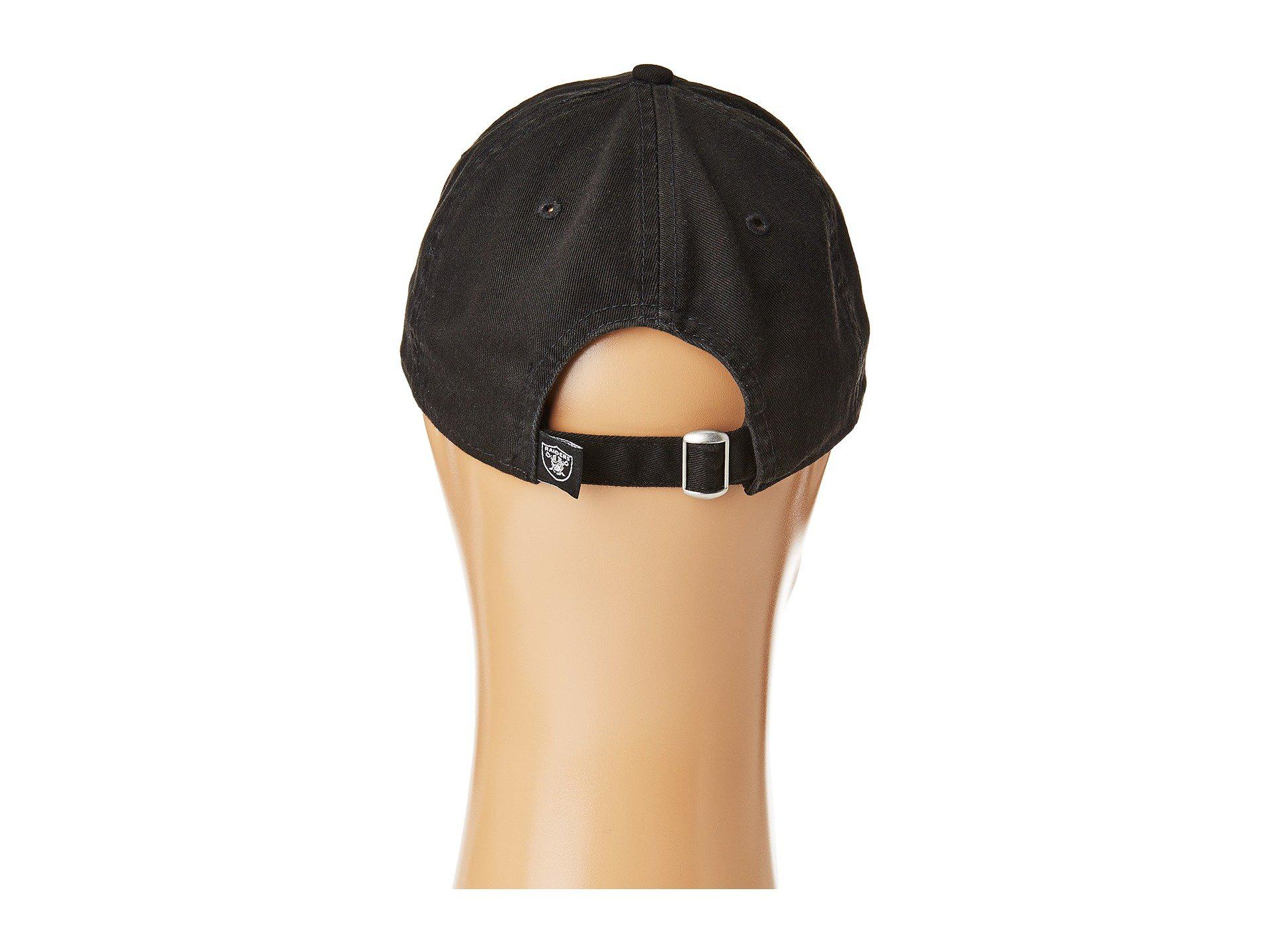392ce861f3f KTZ - Oakland Raiders 9twenty Core (black) Baseball Caps for Men - Lyst.  View fullscreen