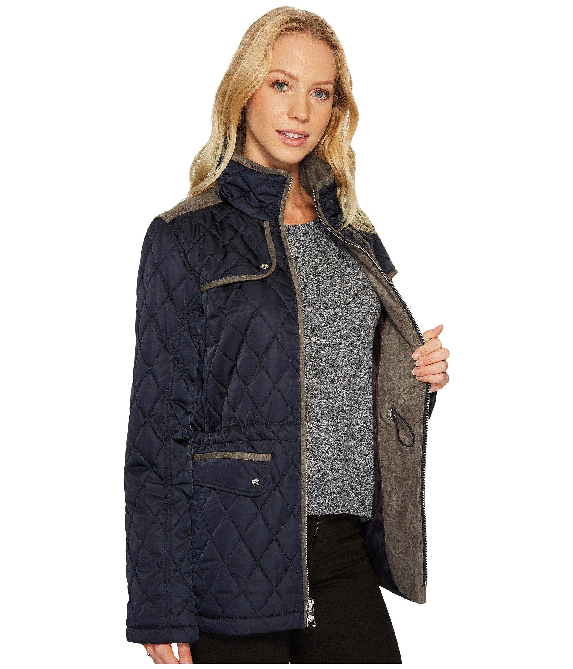coats and with waist parka p quilted vince pocket four drawstring jacket camuto womens quilt hem clothing