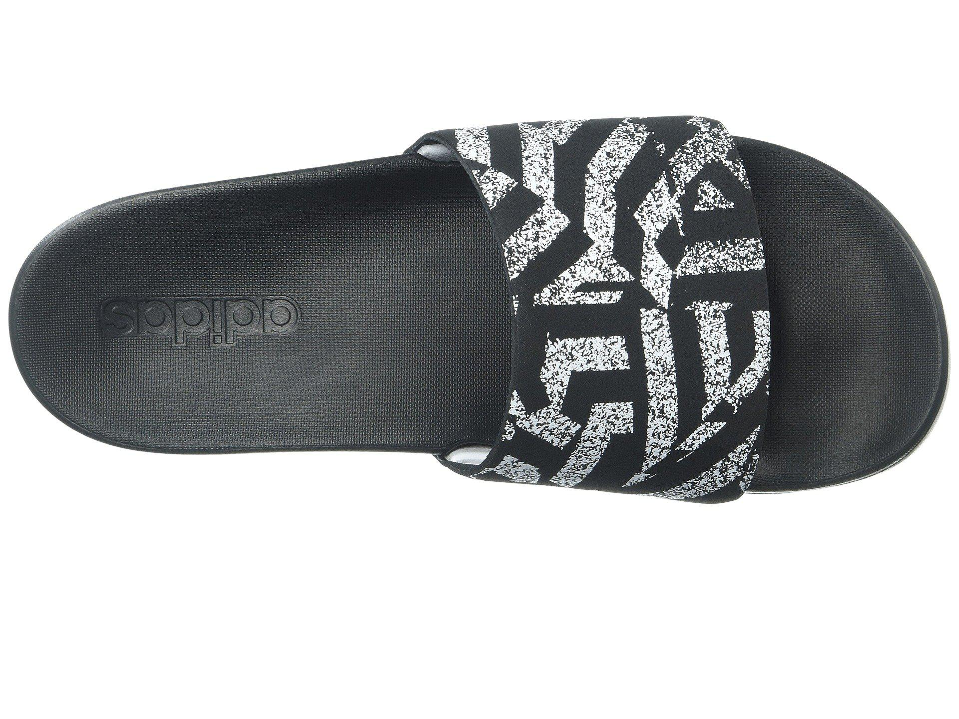 Lyst adidas adilette cf + link gr (nero / bianco / nero) donne
