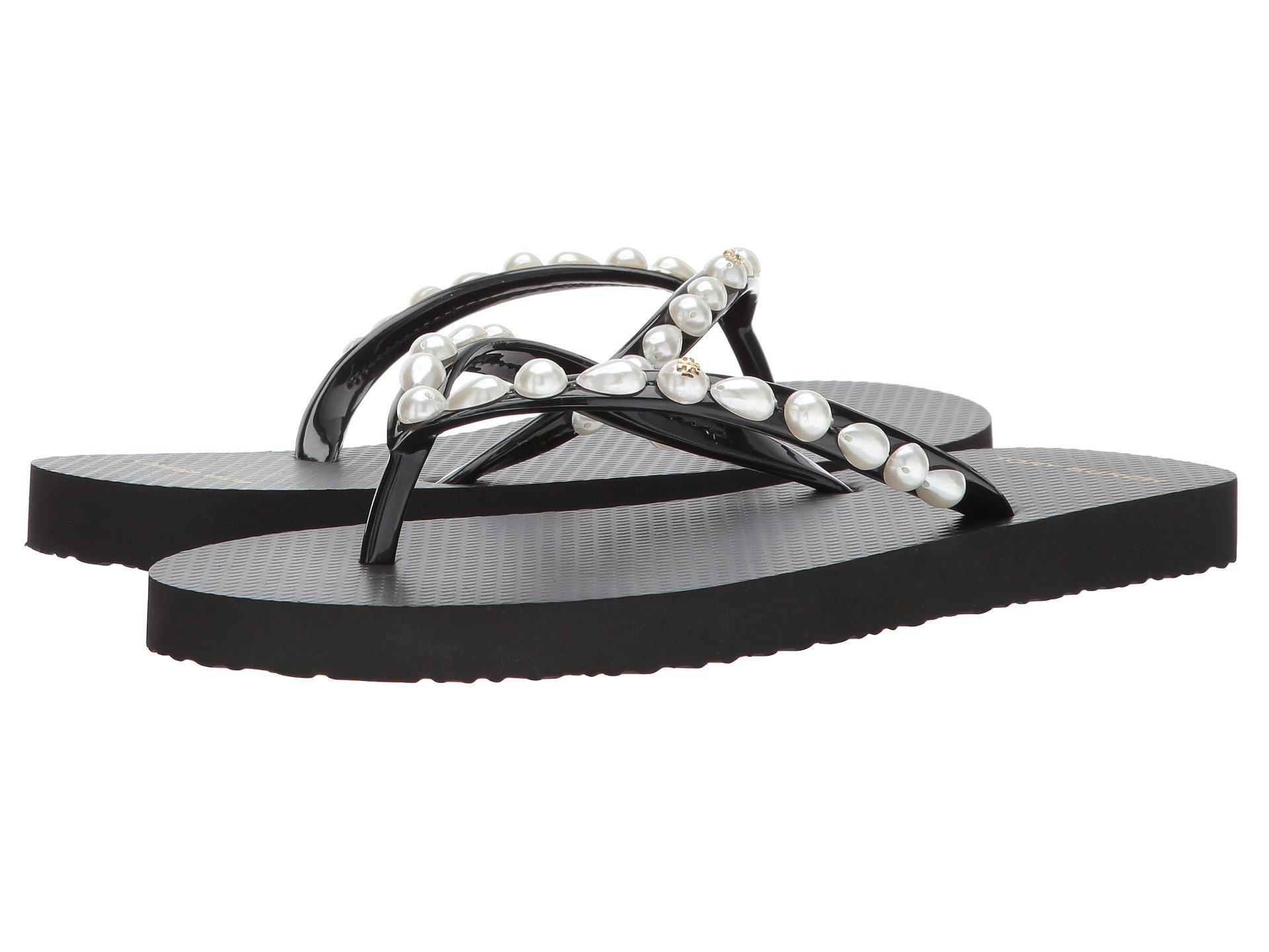 732812bde3ba Lyst - Tory Burch Thin Flip Flop (new Ivory ivory Wild Pansy ...