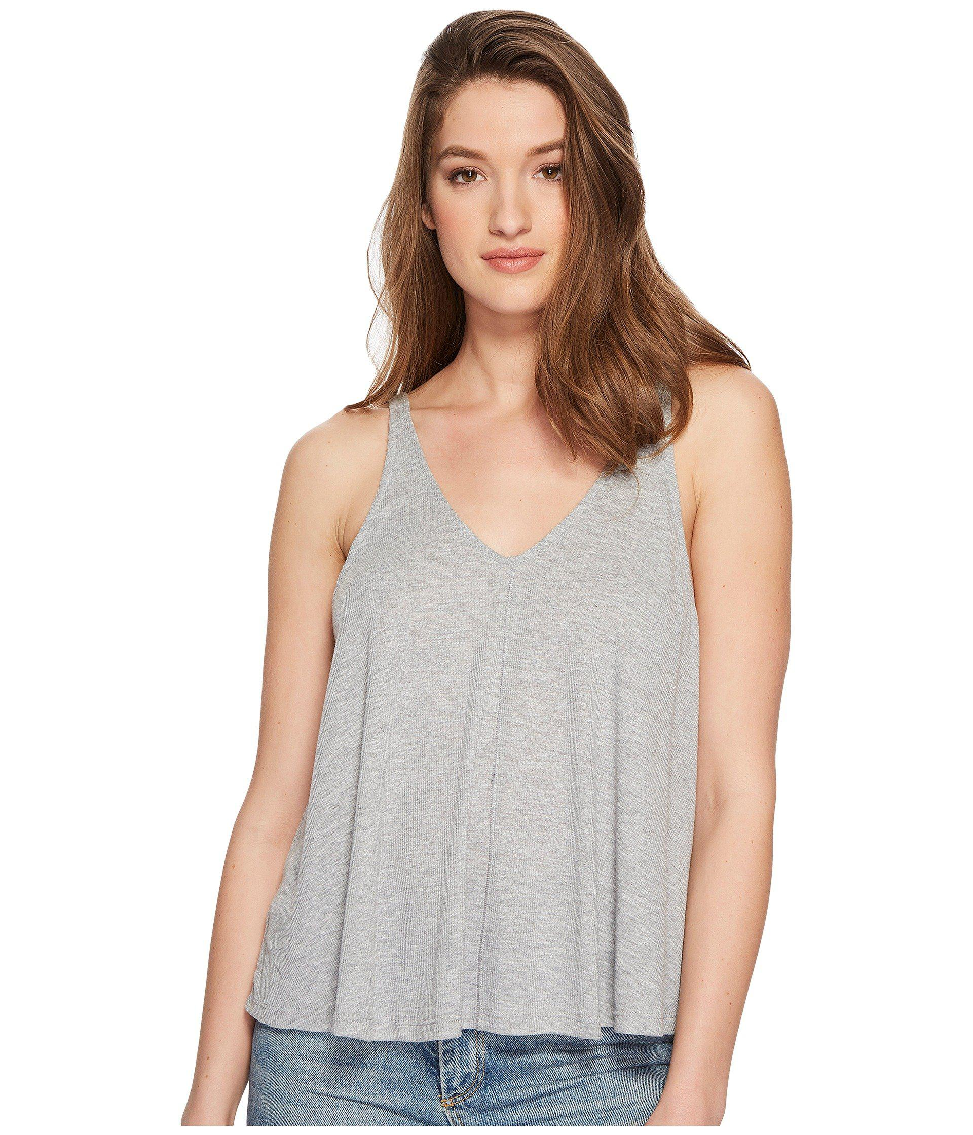 8f402ddca5c91 Lyst - Free People Dani Tank Top (grey) Women s Sleeveless in Gray