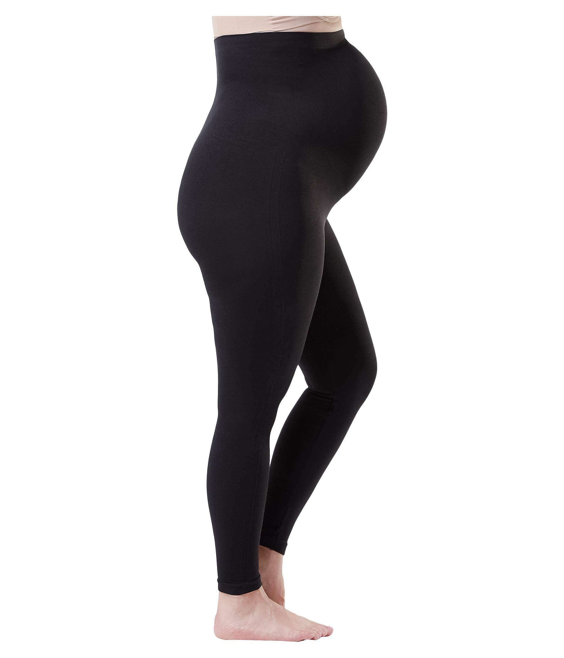 435aa5e63 Lyst - Spanx Plus Size Mama Look At Me Now Seamless Leggings (very Black)  Women s Casual Pants in Black