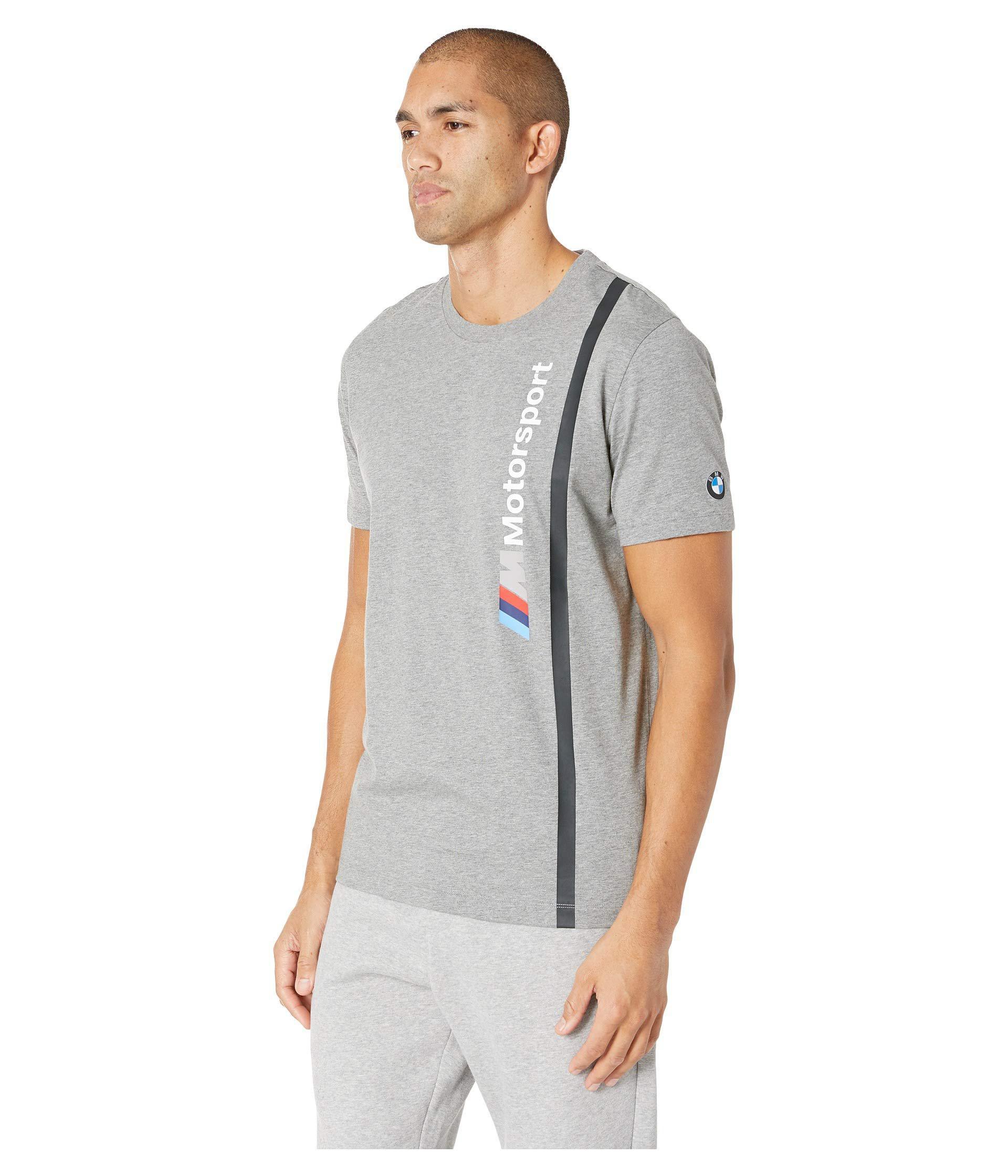 bf2a25a7 Lyst - PUMA Bmw Mms Logo Tee (medium Grey Heather) Men's T Shirt in Gray  for Men