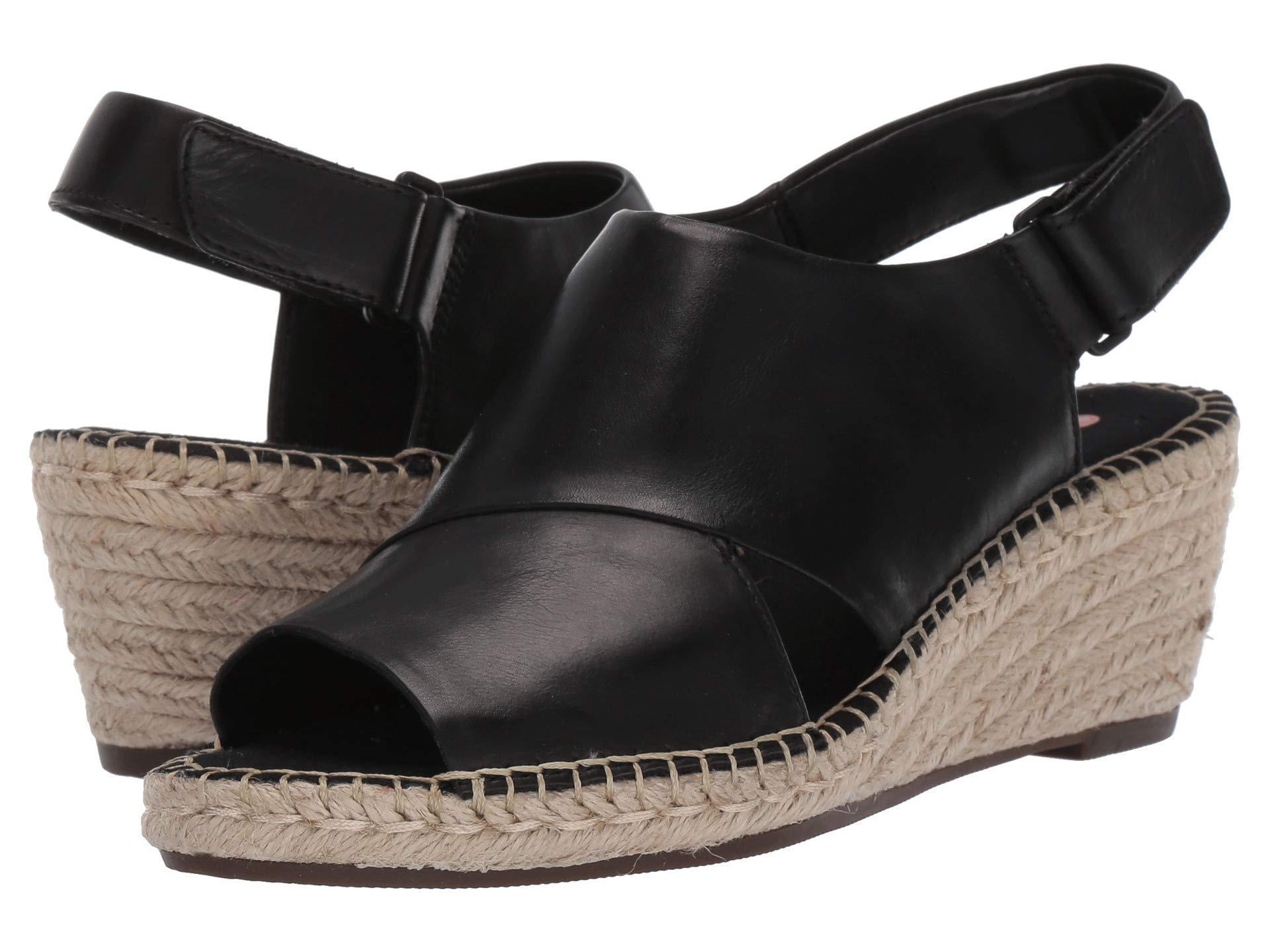 ed8a7cbbff296 Lyst - Clarks Petrina Abby (light Tan Leather) Women's Wedge Shoes ...