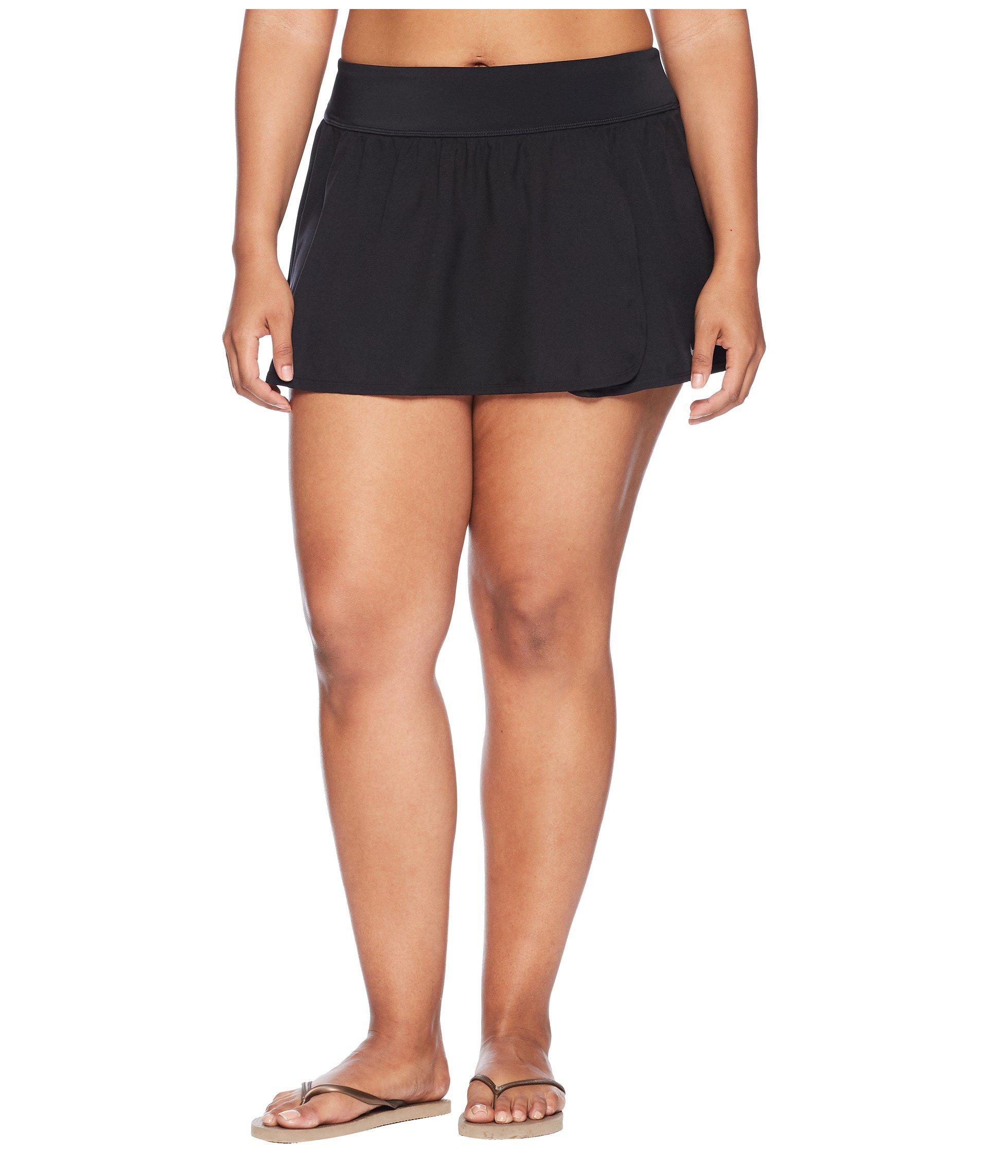 acefb6529cf Lyst - Nike Plus Size Element Boardskirt (black) Women s Swimwear in ...