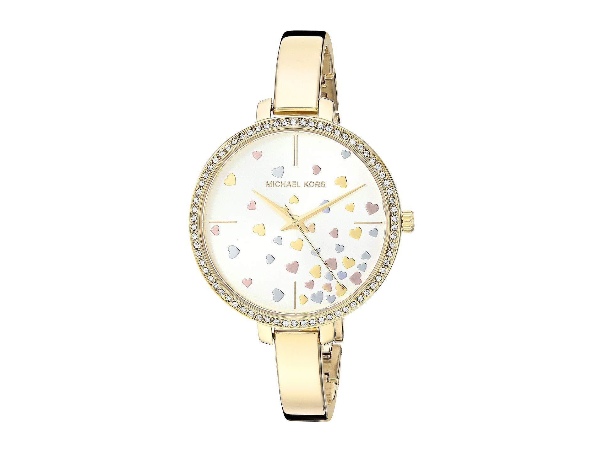 Lyst Michael Kors Mk3977 Jaryn Gold Watches In Metallic Fossil Idealist Silver Es4194 Gallery