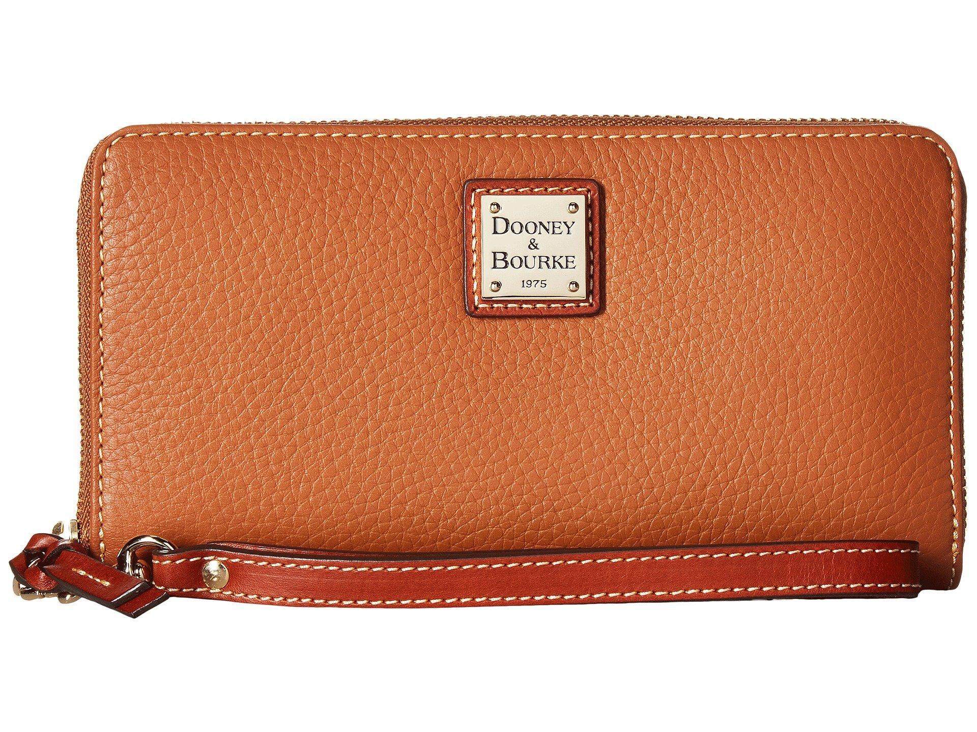 Lyst - Dooney & Bourke Pebble Leather Large Zip Around