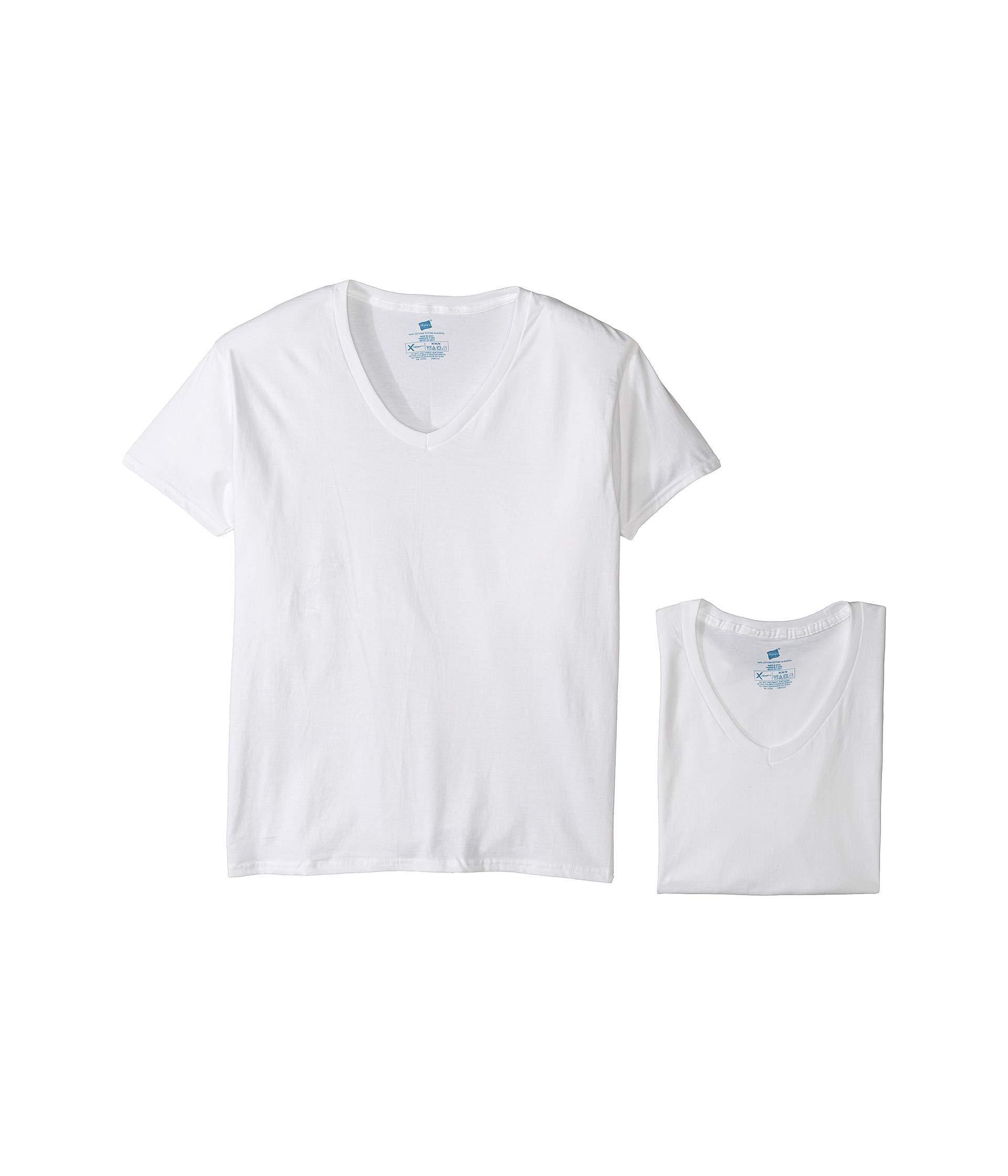 af48a2c8af2d Lyst - Hanes 4-pack Platinum X-temp Combed Cotton V-neck (white ...