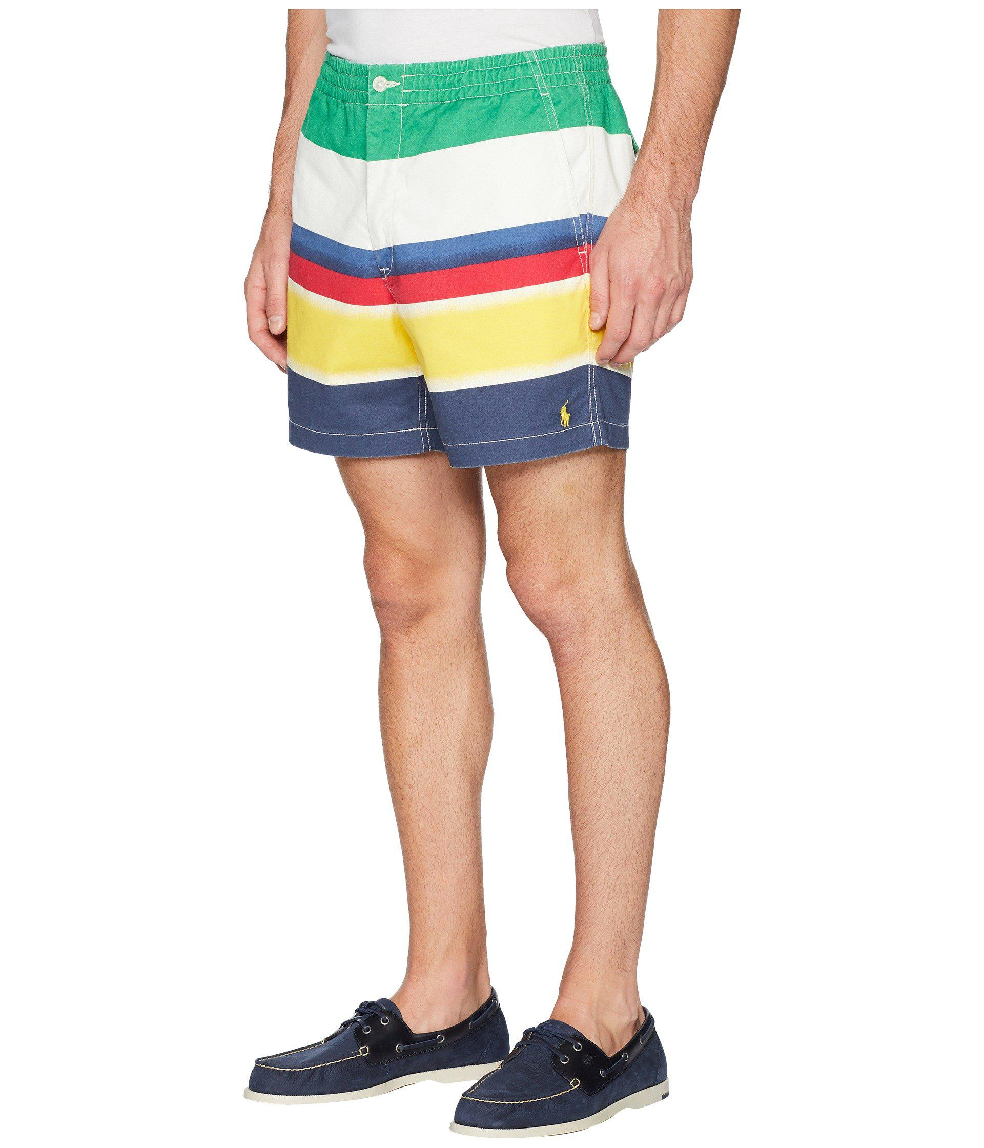 Lyst - Polo Ralph Lauren Cp-93 Striped Stretch Twill Shorts in Blue for Men