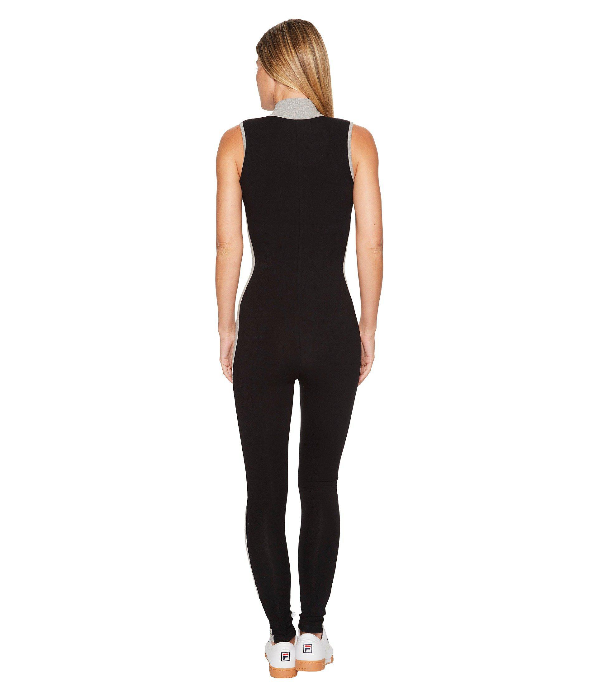 38c555b18a4 Lyst - Fila Roseann Unitard (black gray Heather white) Women s ...