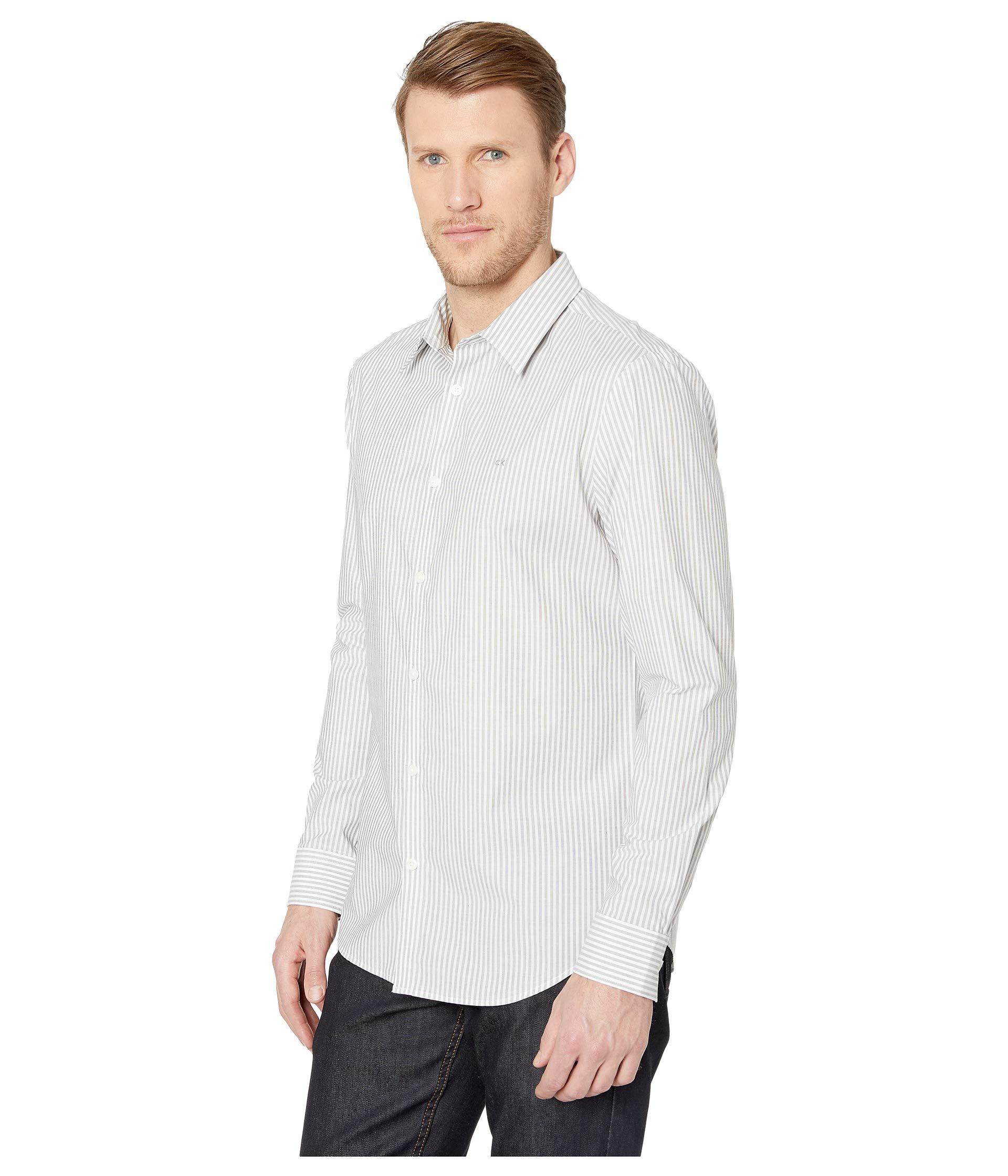 a5ec9ad36c5 Lyst - Calvin Klein The Stretch-cotton Shirt (black) Men s Clothing in Black  for Men