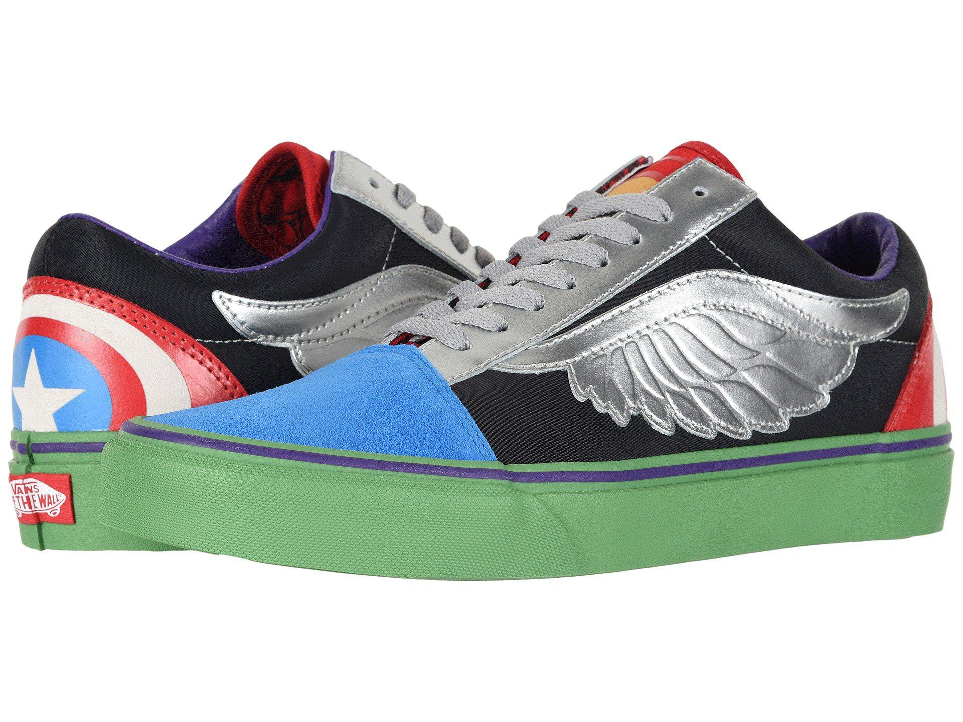 dfb13bd32bc Lyst - Vans Old Skool X Marvel Collab ((marvel) Avengers multi) Lace ...