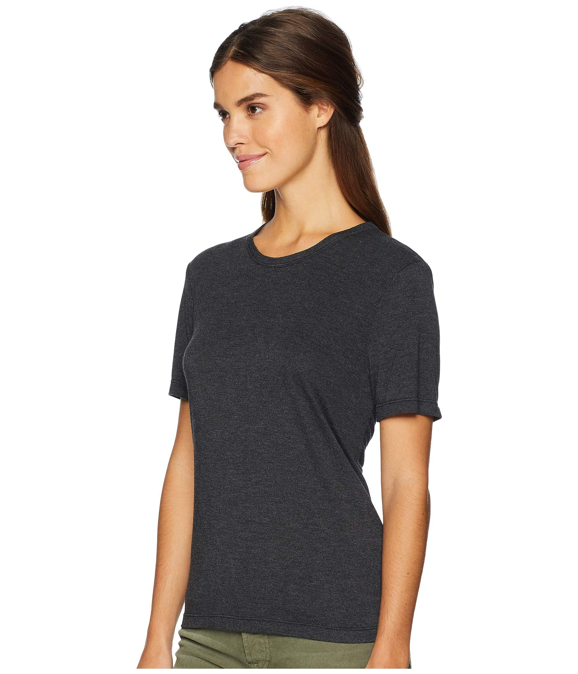Lyst - Michael Stars Brixton Jersey Short Sleeve Crew Neck (black) Women s  Clothing in Black 9e4944f52cf