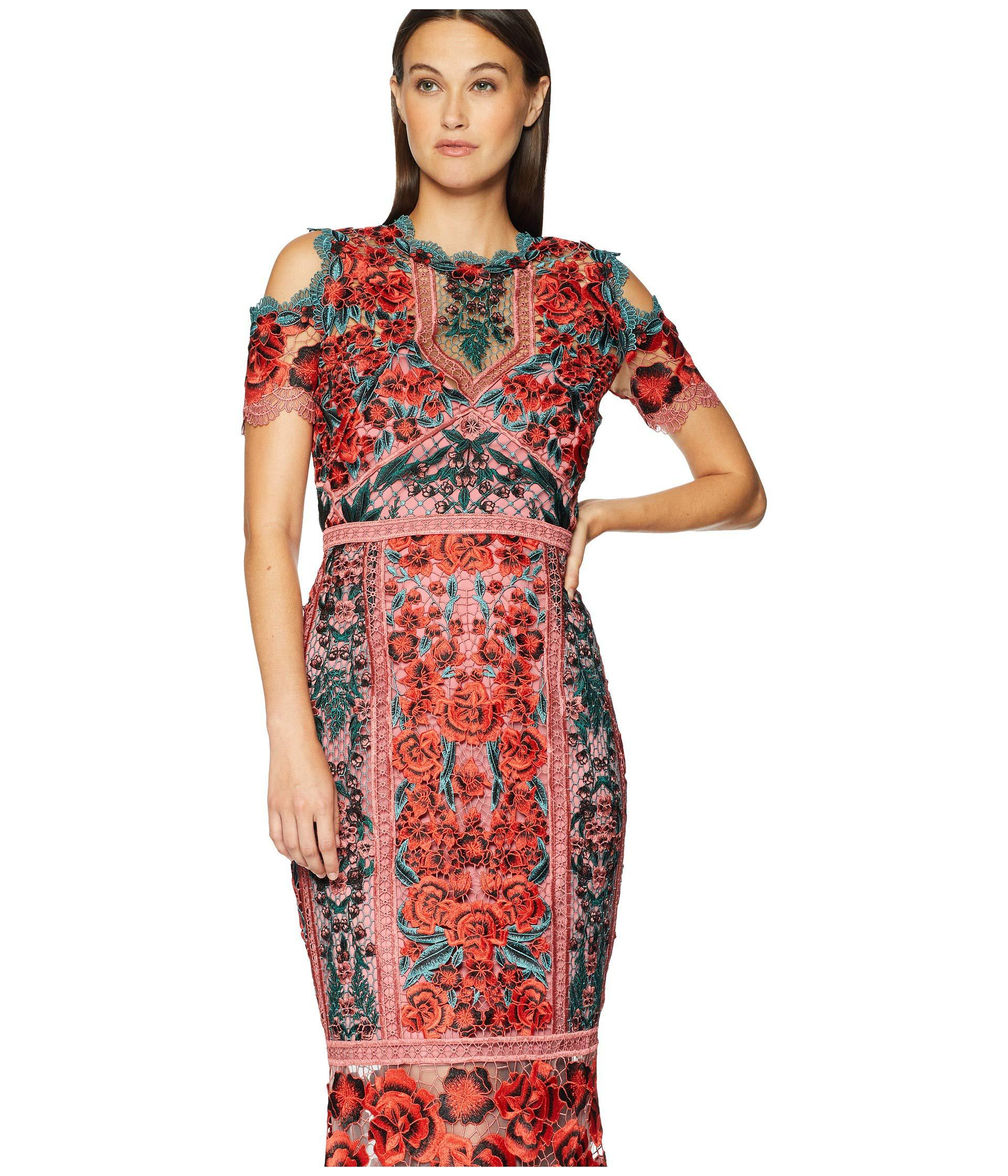 a11148c3a39 Marchesa Notte Lace Tea Length Cocktail Dress - Gomes Weine AG