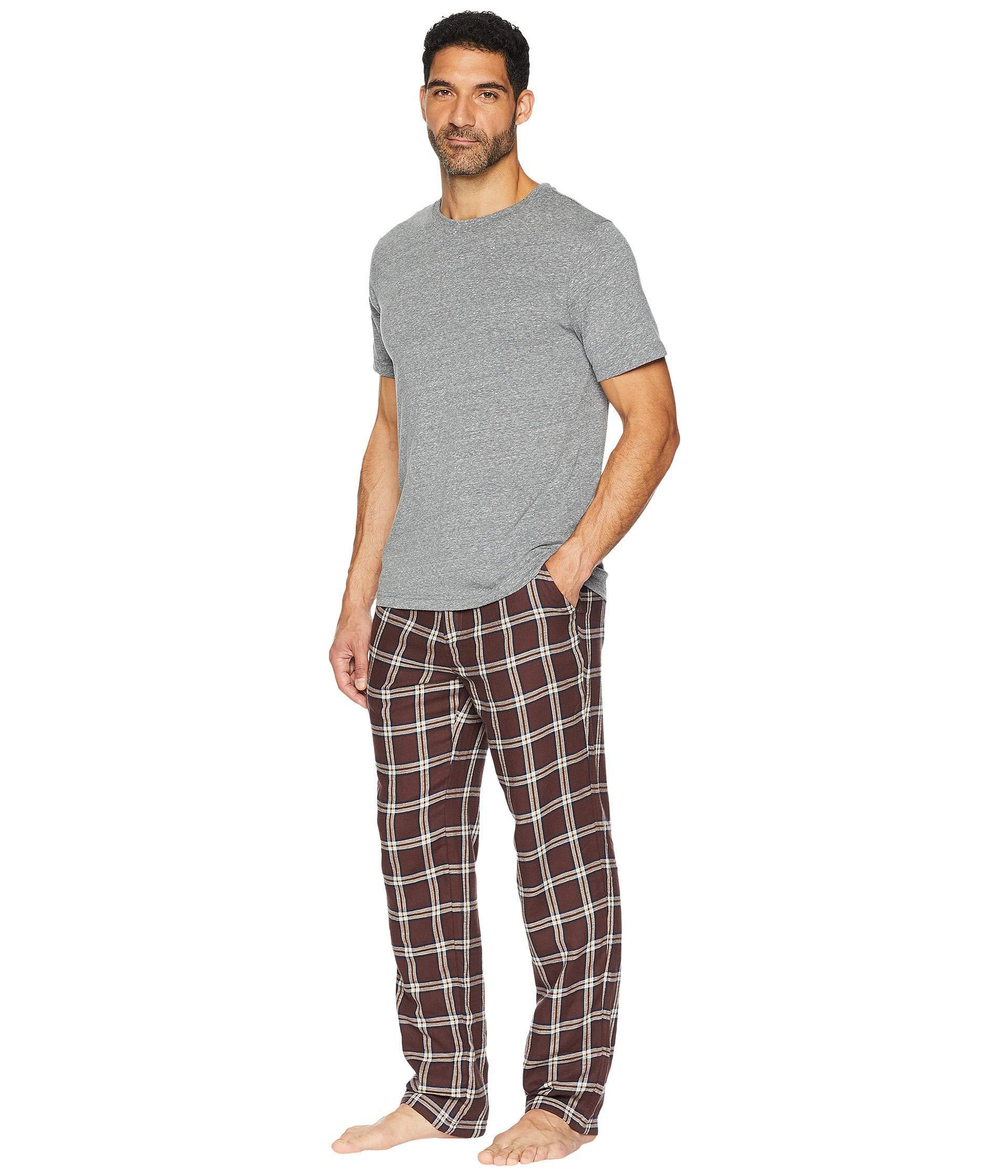 Lyst - UGG Grant Woven Sleepwear Set (port grey Heather) Men s ... 5e6364520