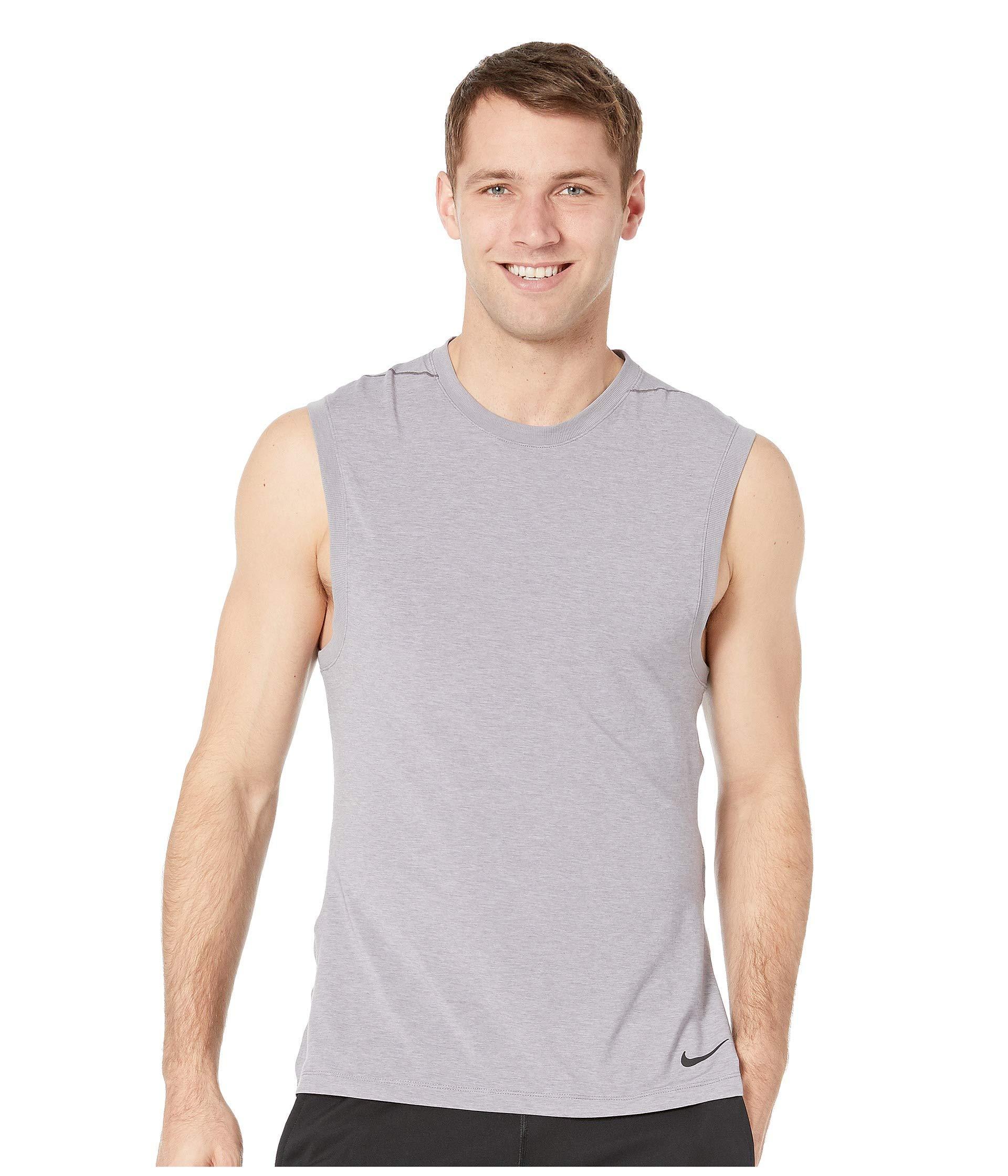 69be7a63c14d6 Nike. Gray Dry Tank Transcend (indigo Fog light Armory Blue black) Men s  Sleeveless