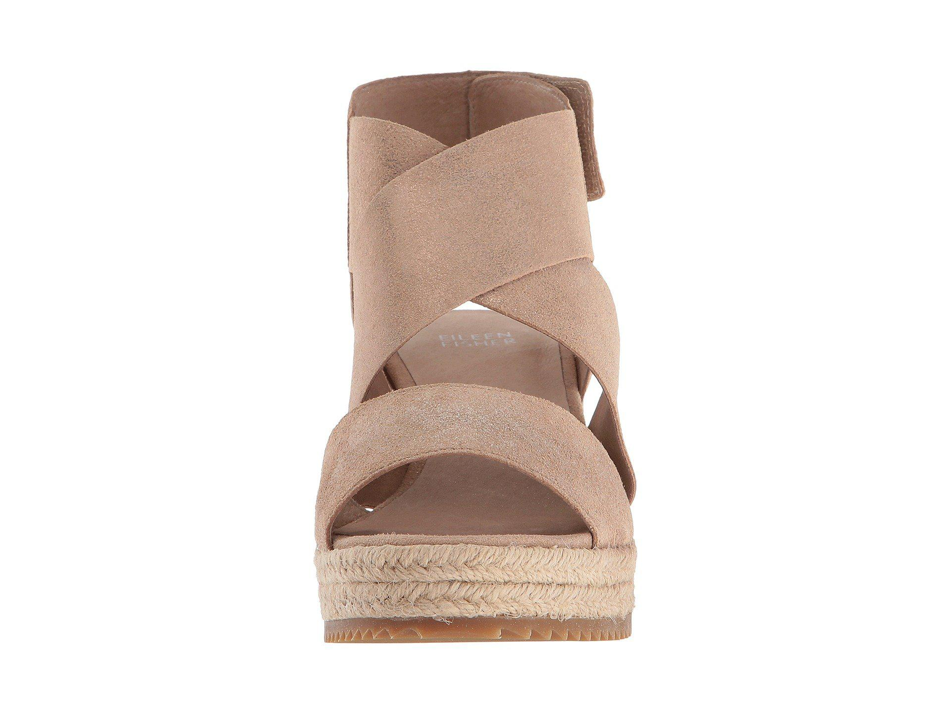 f755f12f120 Eileen Fisher - Multicolor Willow 3 (pewter Metallic Suede) Women s Wedge  Shoes - Lyst. View fullscreen