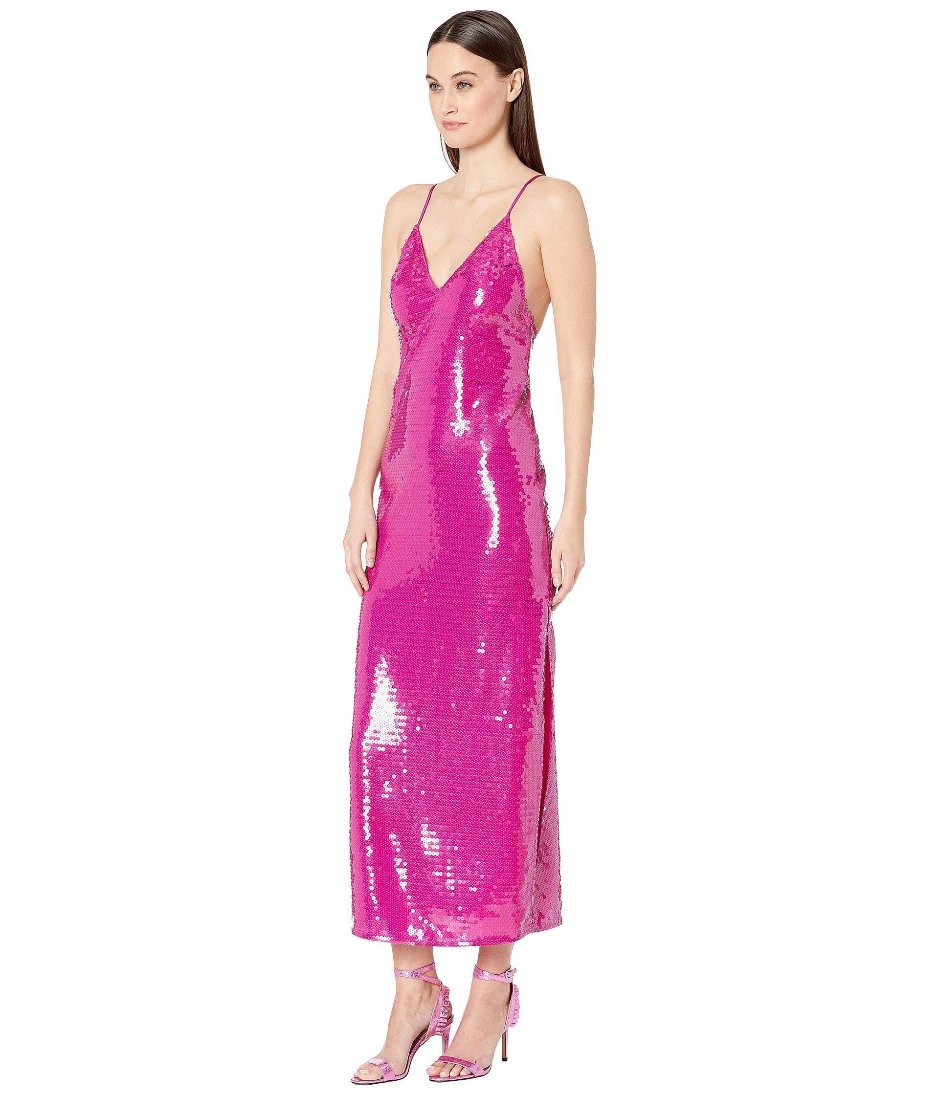 4e04a27175c40 Fleur du Mal - Pink Long Sequin Slip (bougainvillea) Women's Clothing -  Lyst. View fullscreen