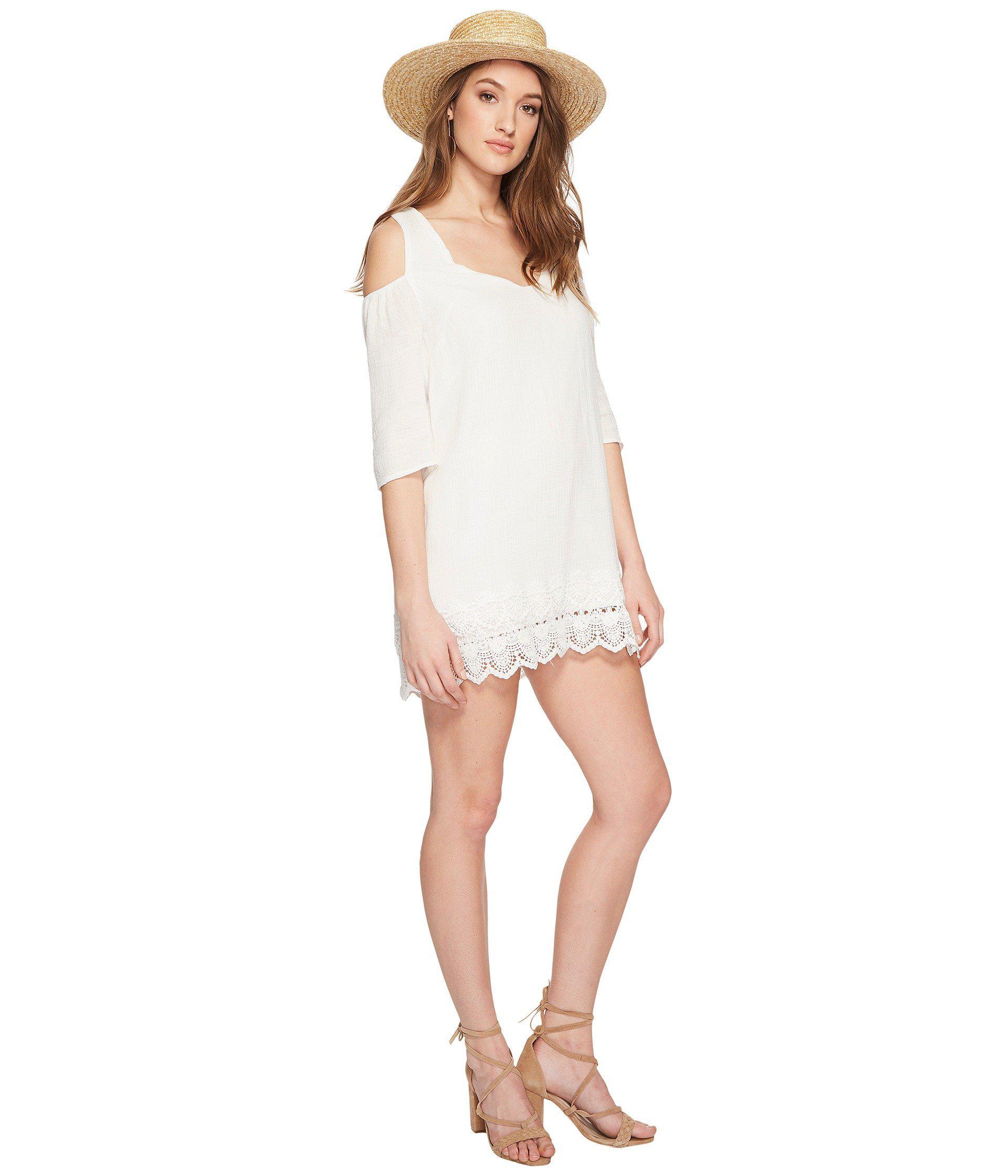 2d09d71154a Lyst - Jack BB Dakota Stefani Cotton Gauze Dress With Scallop Lace ...