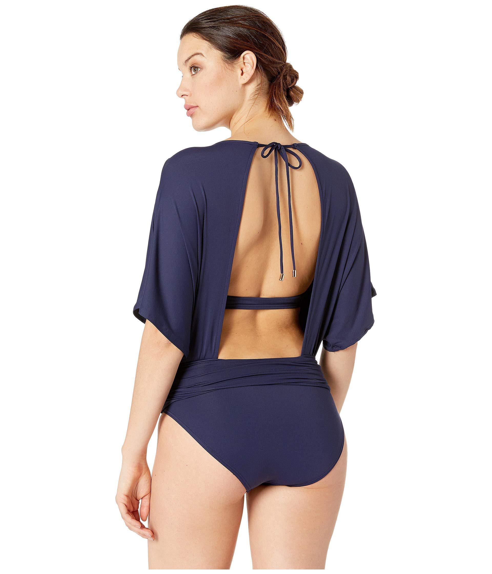 a7b7103845 Vince Camuto - Blue Surf Shades Kimono Sleeve One-piece (deep Sea) Women s.  View fullscreen