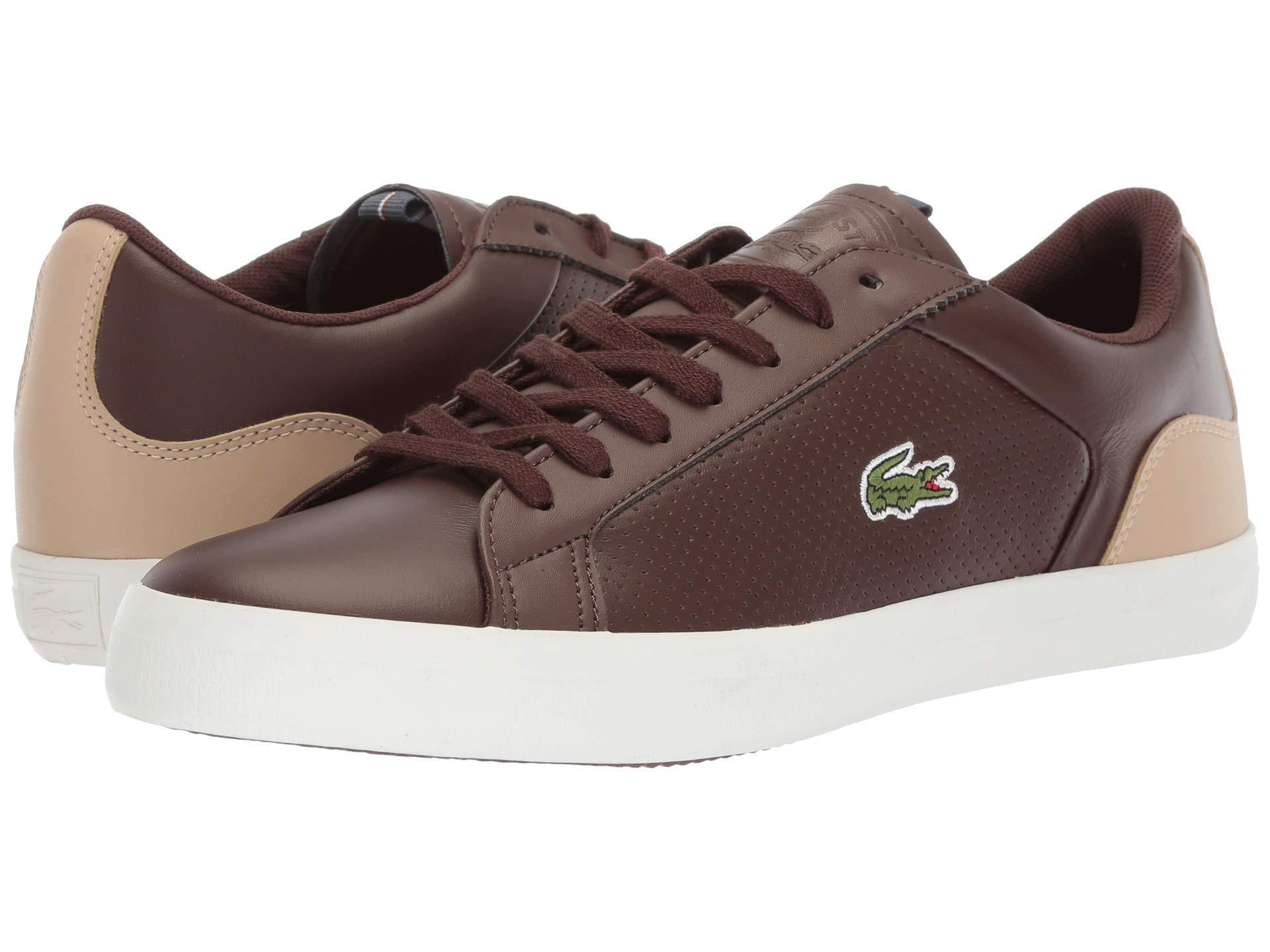 b1521ba88 Lacoste - Lerond 418 1 (brown natural) Men s Shoes for Men - Lyst. View  fullscreen