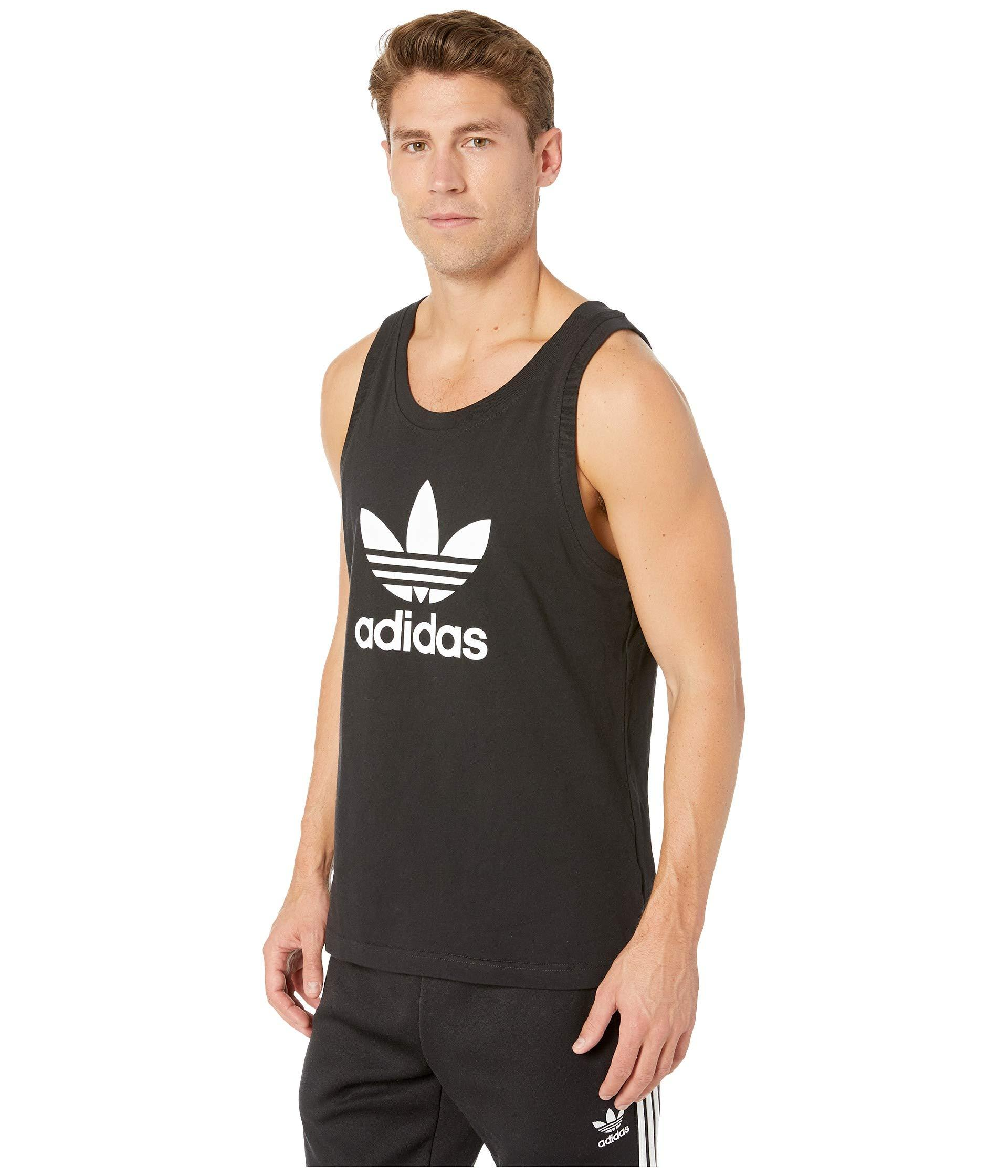 689447540110c0 Lyst - adidas Originals Trefoil Tank Top (white) Men s Sleeveless in Black  for Men
