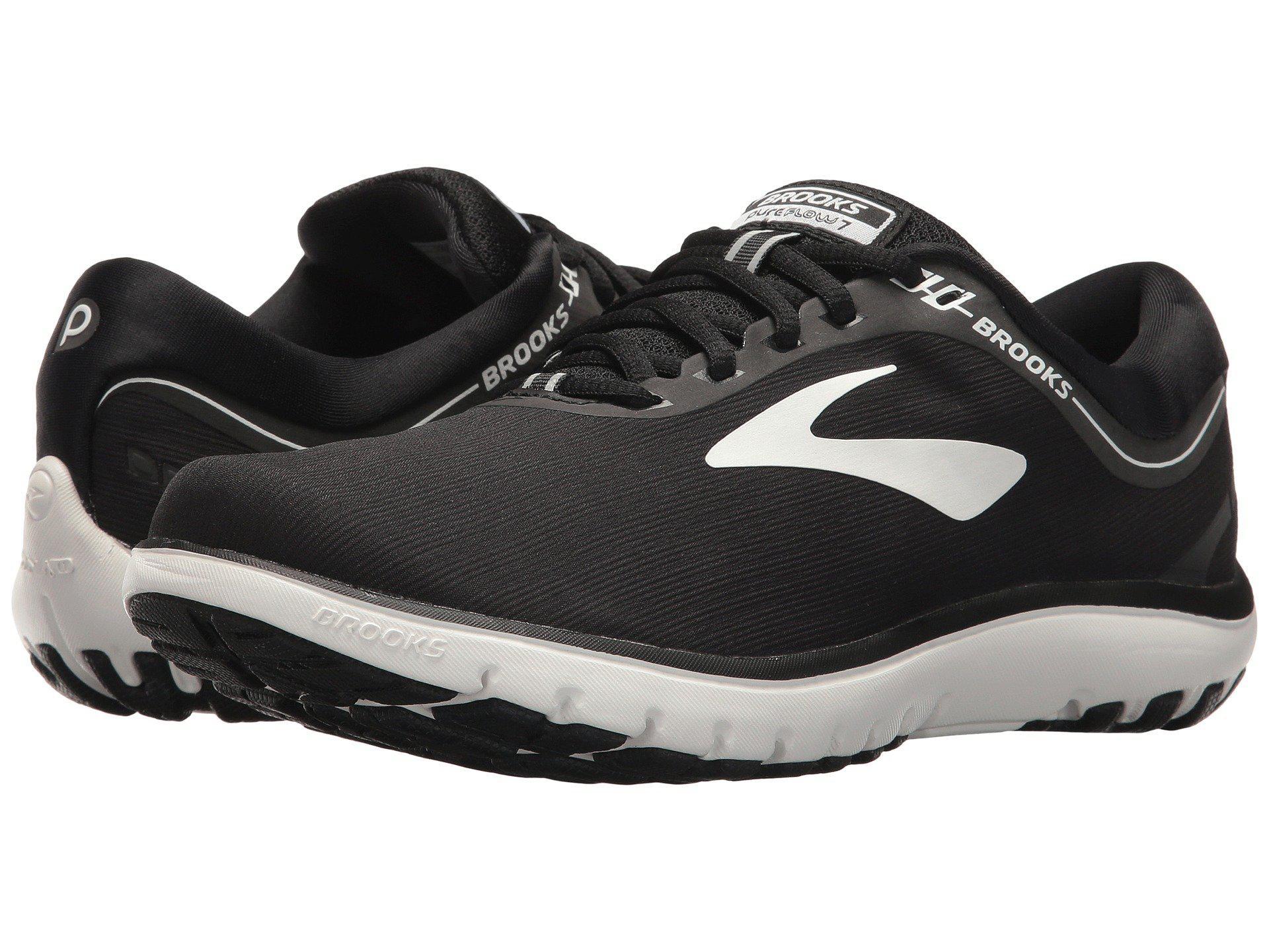 18fa03ddbec3b Lyst - Brooks Pureflow 7 (grey black green) Women s Running Shoes in ...