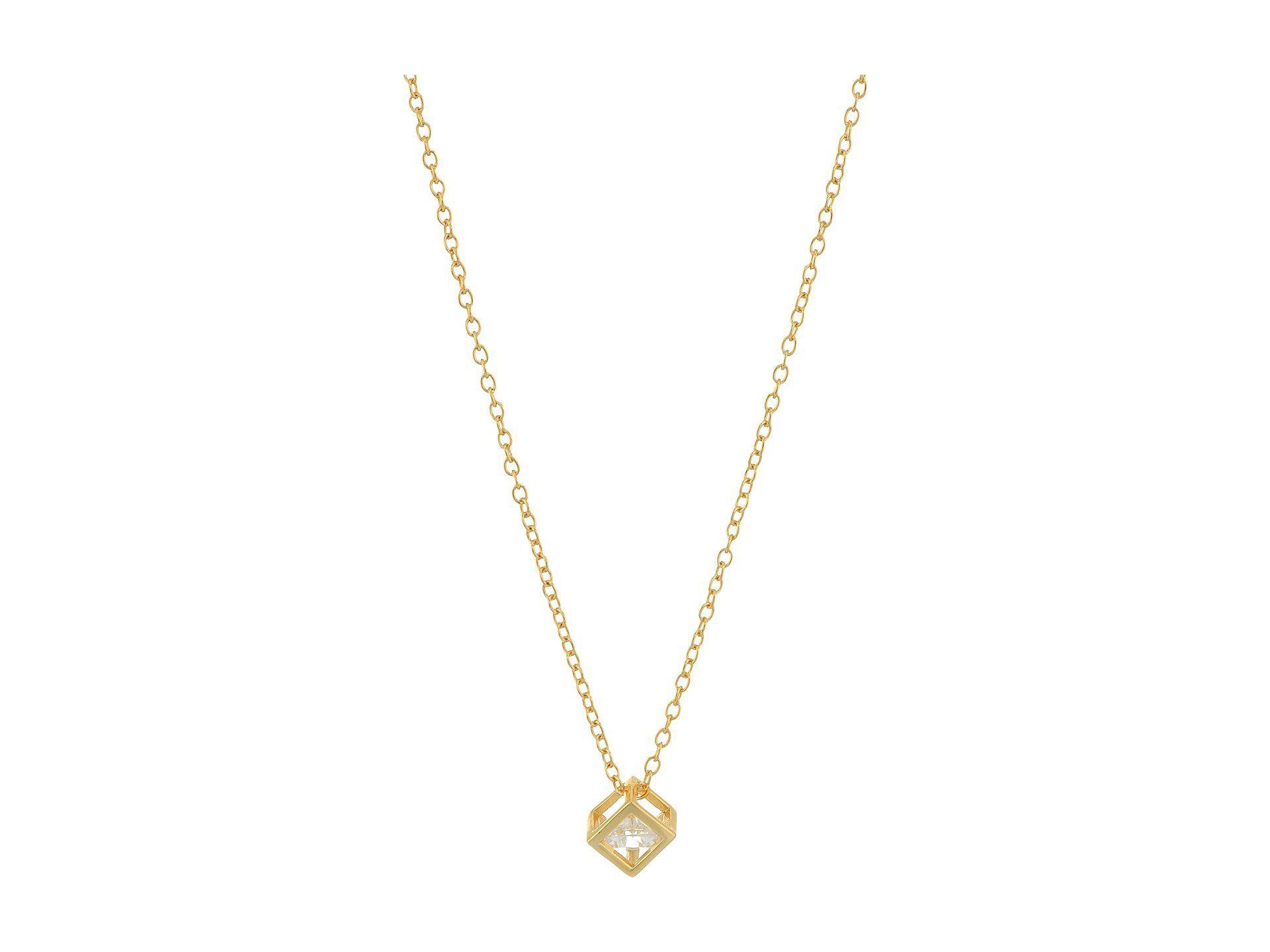 Rosa Collar De Oro Metálico En Shashi 8FGo7W0
