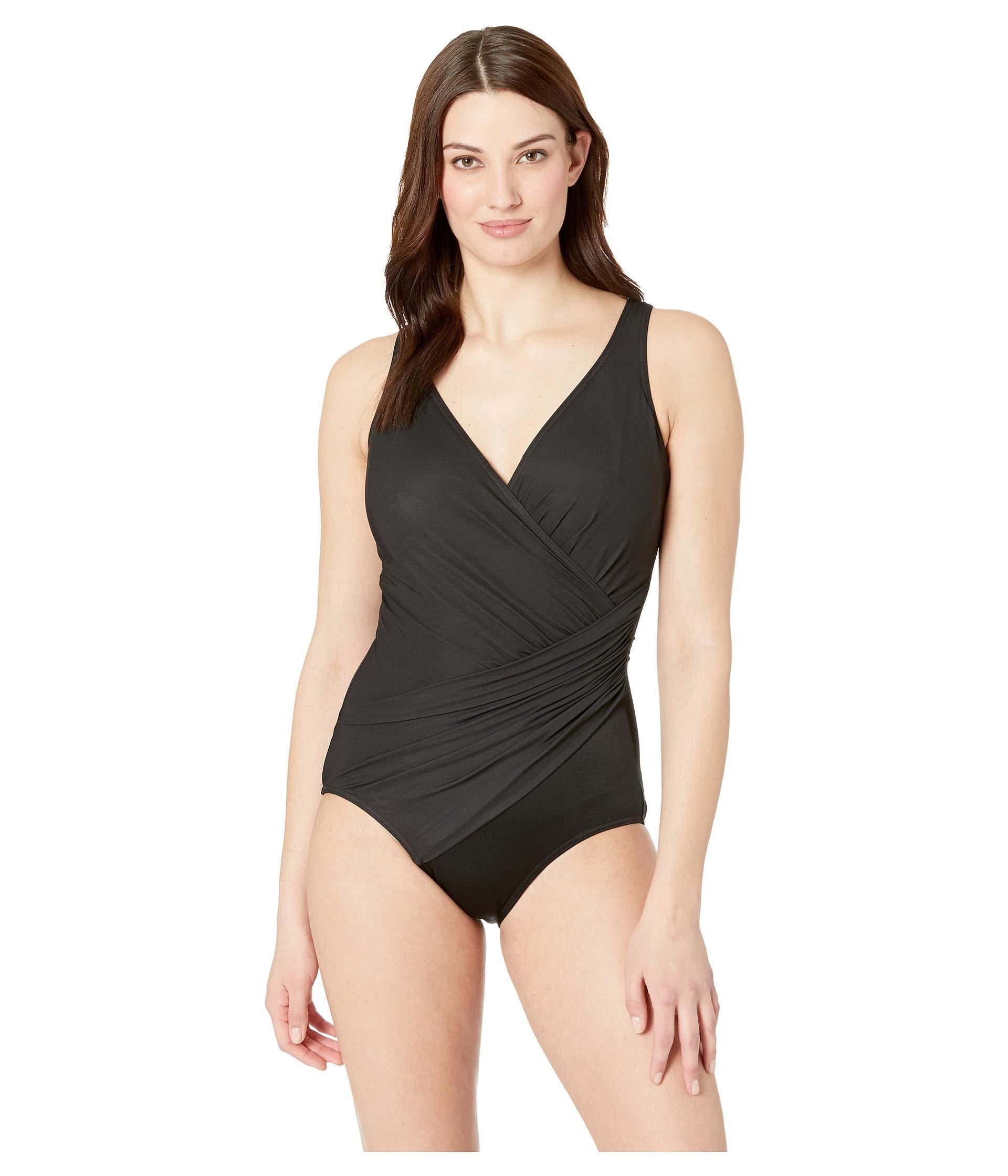 debc389ebcebd Lyst - Miraclesuit Solid Dd-cup Oceanus One-piece (black) Women s ...