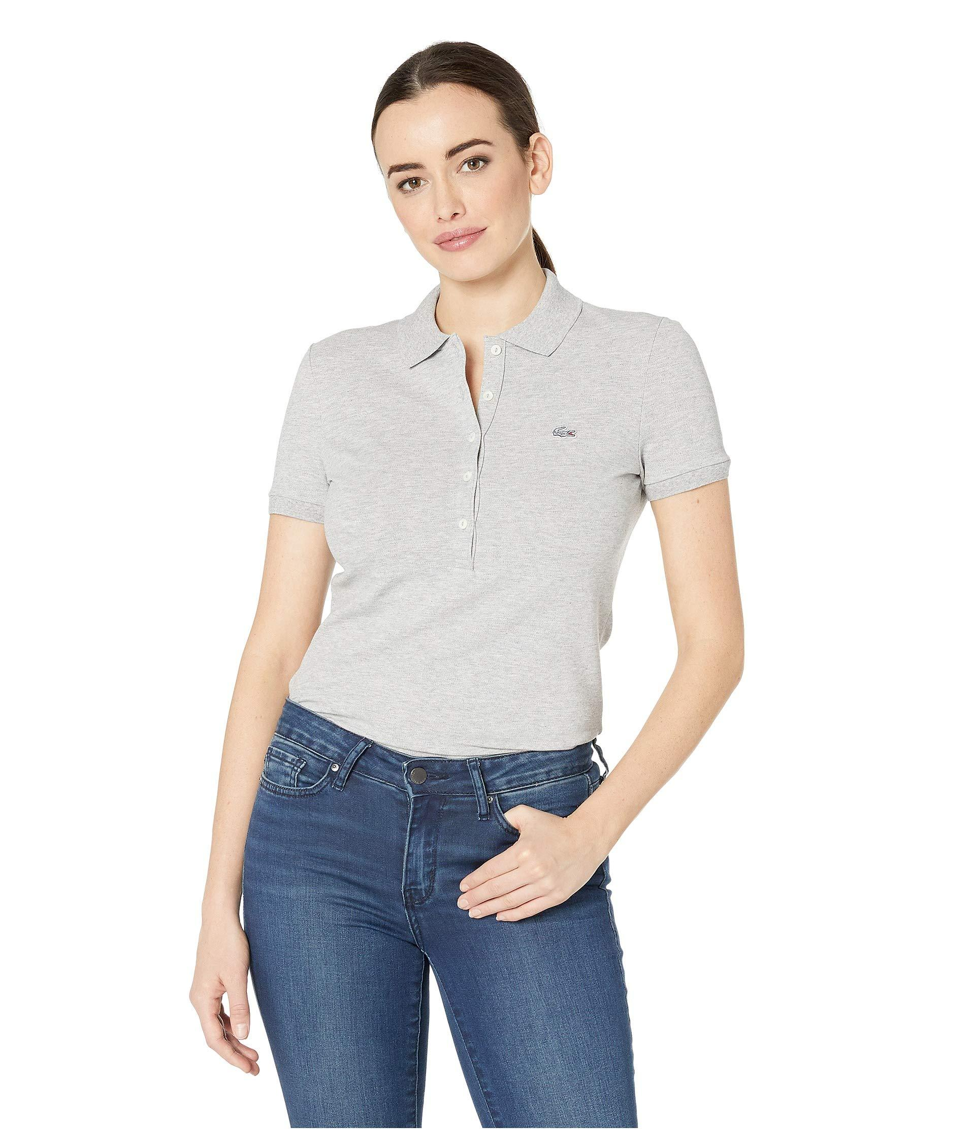 e8662dcade Lyst - Lacoste Classic Short Sleeve Slim Fit Stretch Pique Polo ...