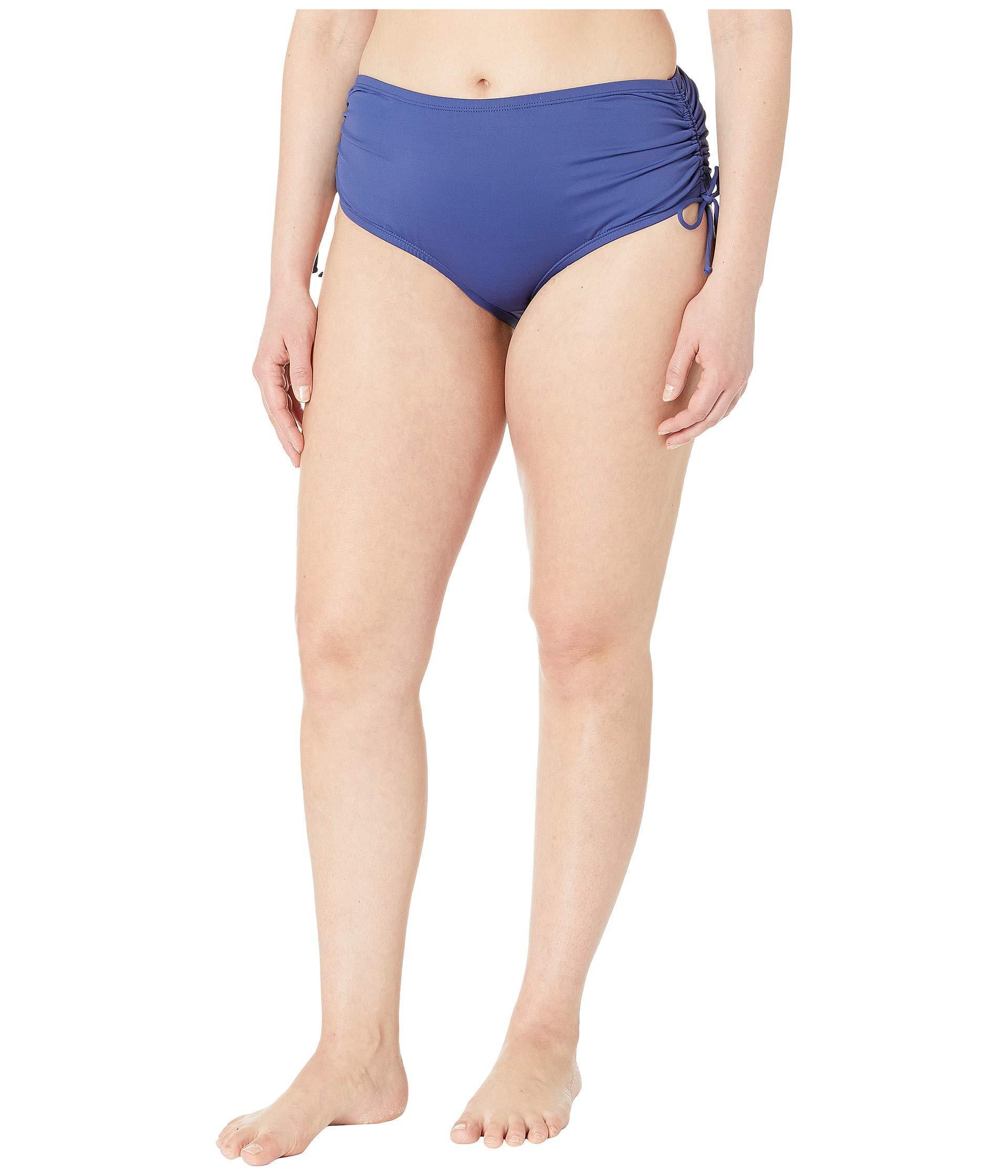 932d1ef36ae 24th   Ocean. Blue Plus Size Solids Mid Waist Adjustable Tie Side Pant  Bottoms ...