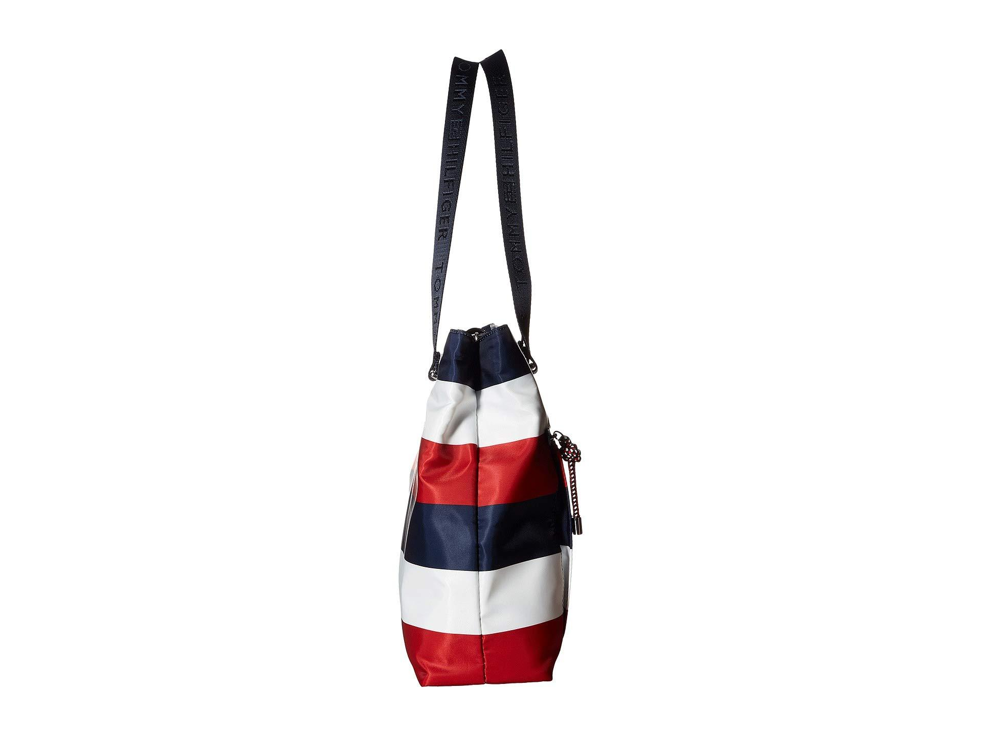 787273fe Lyst - Tommy Hilfiger Lani Tote Corporate Stripe (navy/natural ...