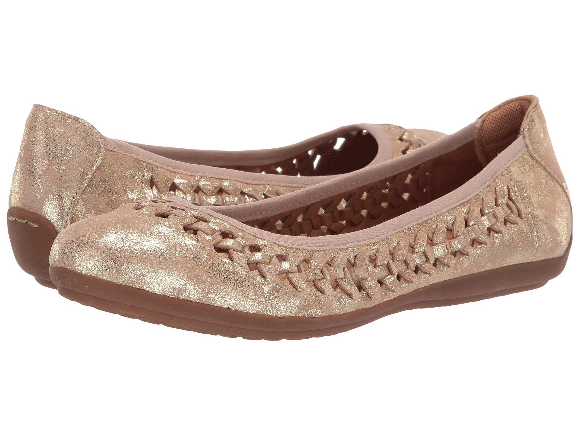 4f6228c75 Comfortiva. Marilu (platino Distressed Foil Suede) Women's Flat Shoes