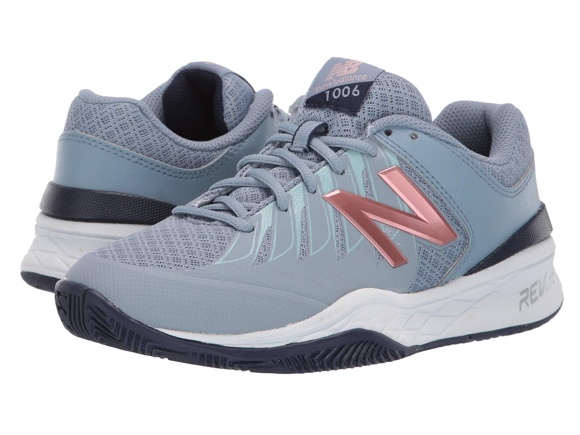 aee95a9fd63f Lyst - New Balance Wc1006v1 (black/pink) Women's Tennis Shoes in Blue