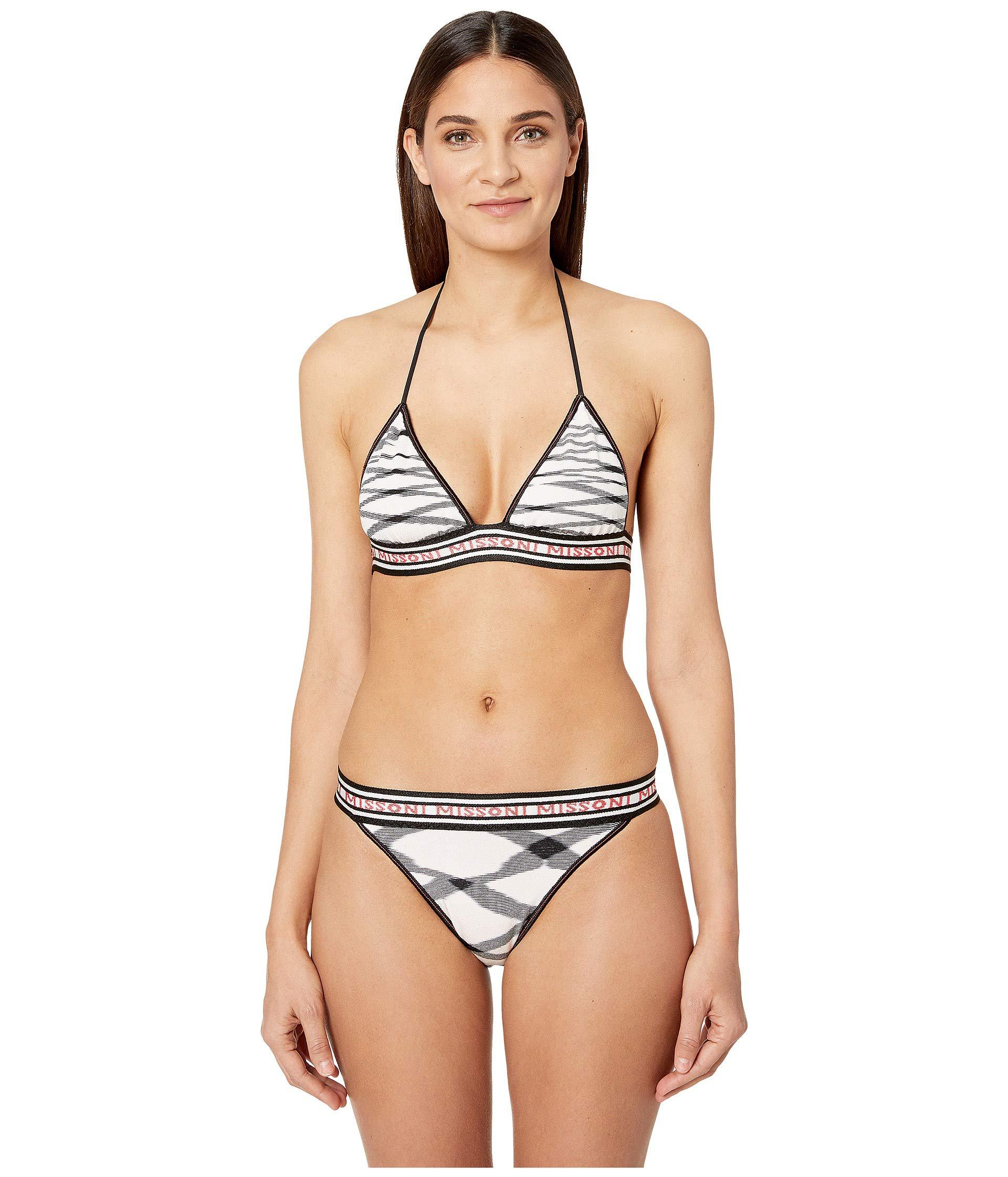 5f3102952665b Lyst - Missoni Fiammata Bikini (black pink) Women s Swimwear Sets in ...