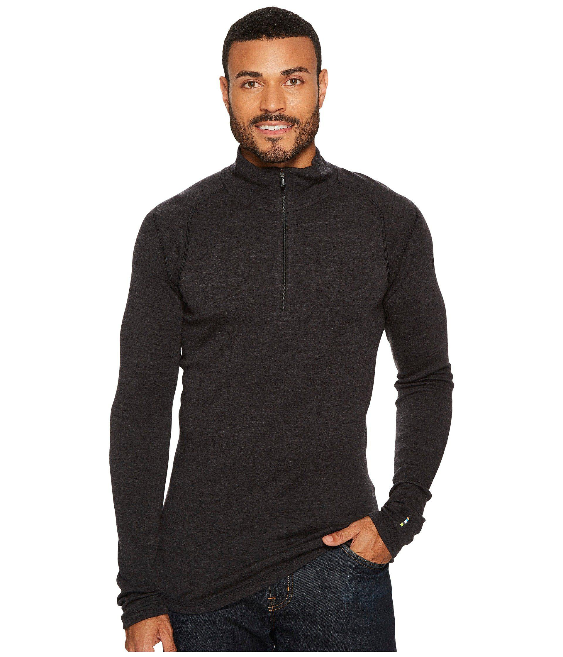 103f5a44a768 Lyst - Smartwool Nts Mid 250 Zip T Top (charcoal) Men s Long Sleeve ...