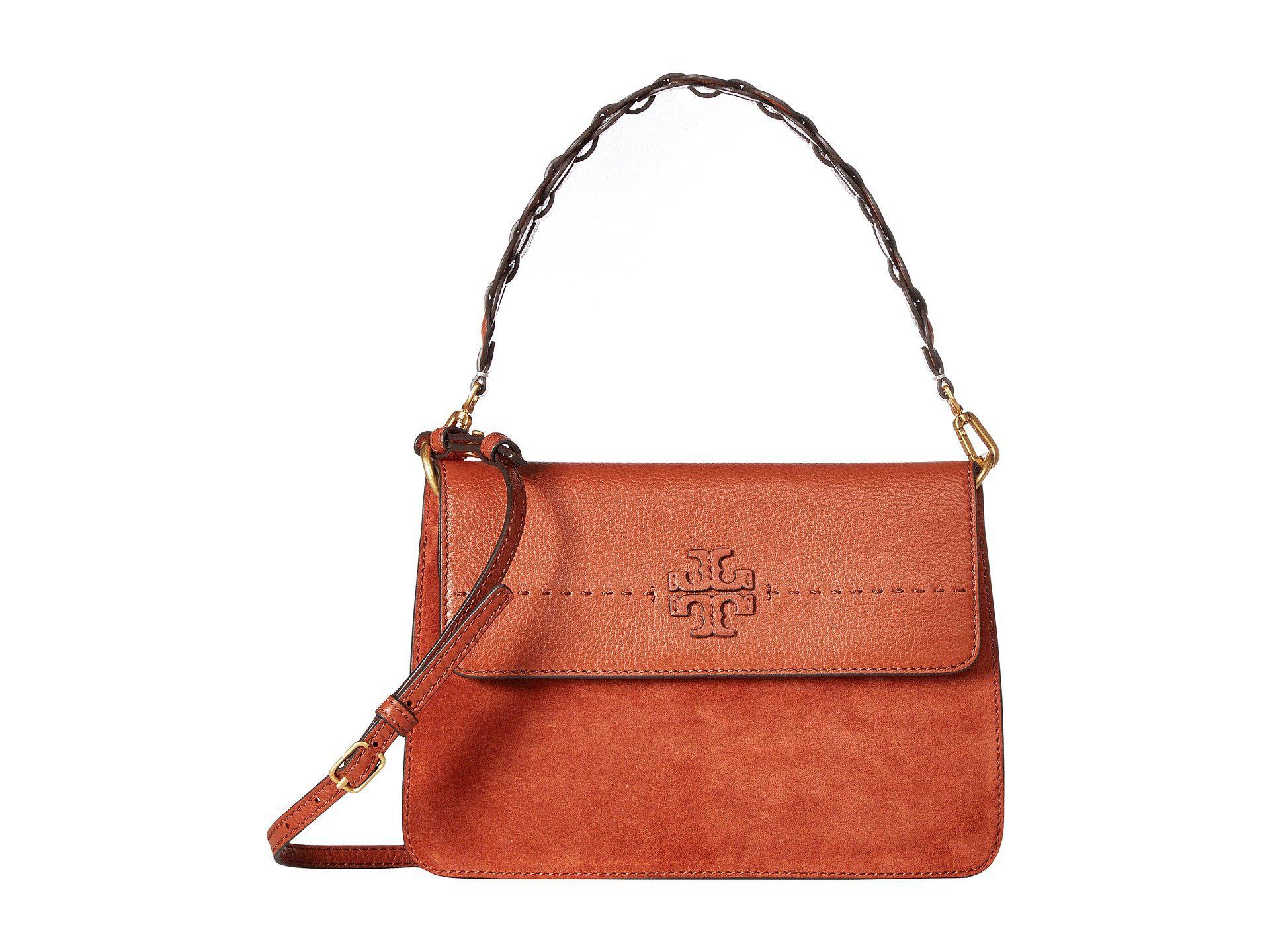 2f5b593dfb8c0 Lyst - Tory Burch Mcgraw Mixed Strap Shoulder Bag