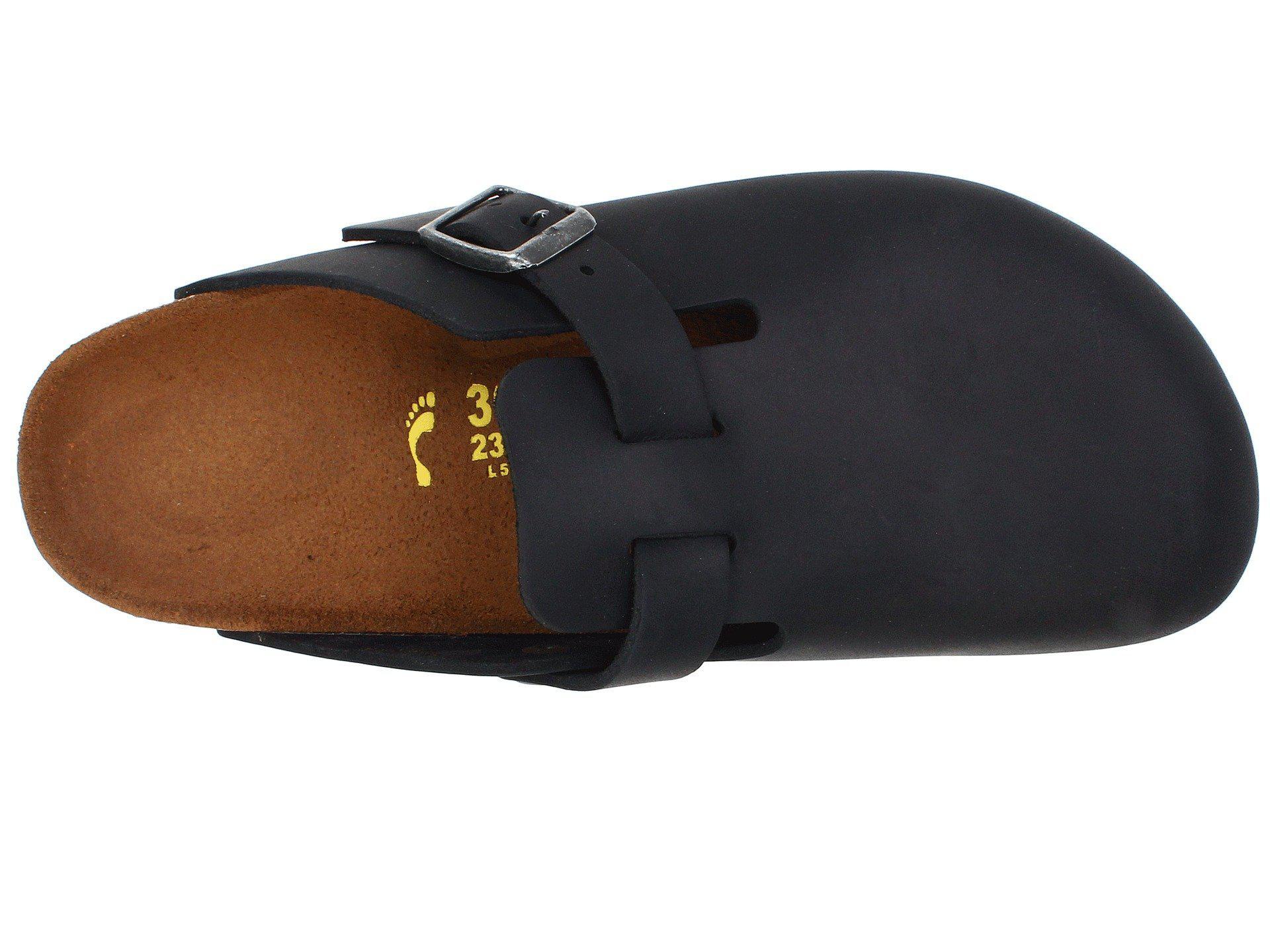 55282c351aac Birkenstock - Black Boston - Oiled Leather (unisex) - Lyst. View fullscreen