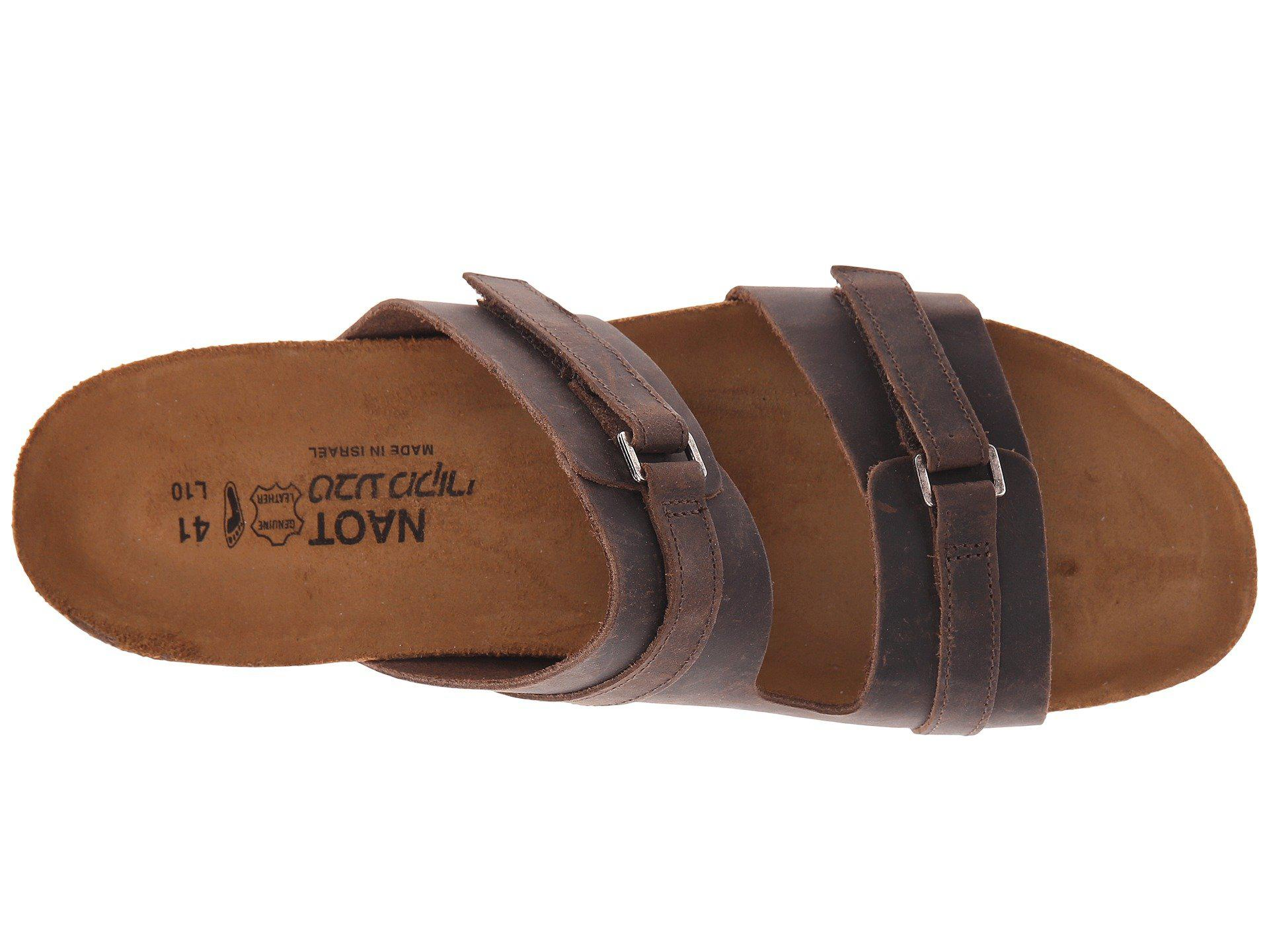 1dddf217c9ad2e Lyst - Naot Carly (crazy Horse Leather) Women s Sandals in Brown