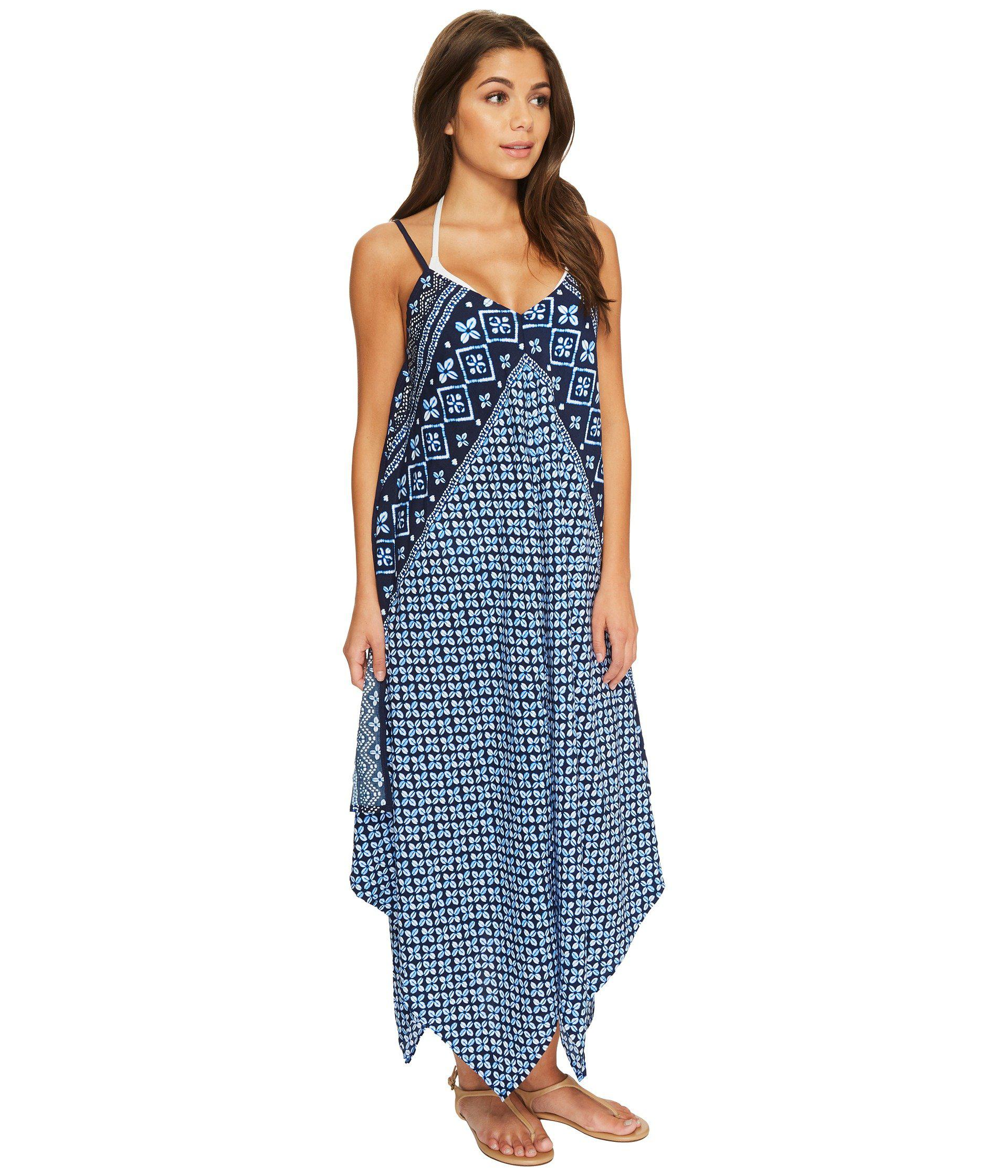 5ff9e142ec Tommy Bahama Indigo Cowrie Scarf Dress Cover-up (mare Navy) Swimwear ...