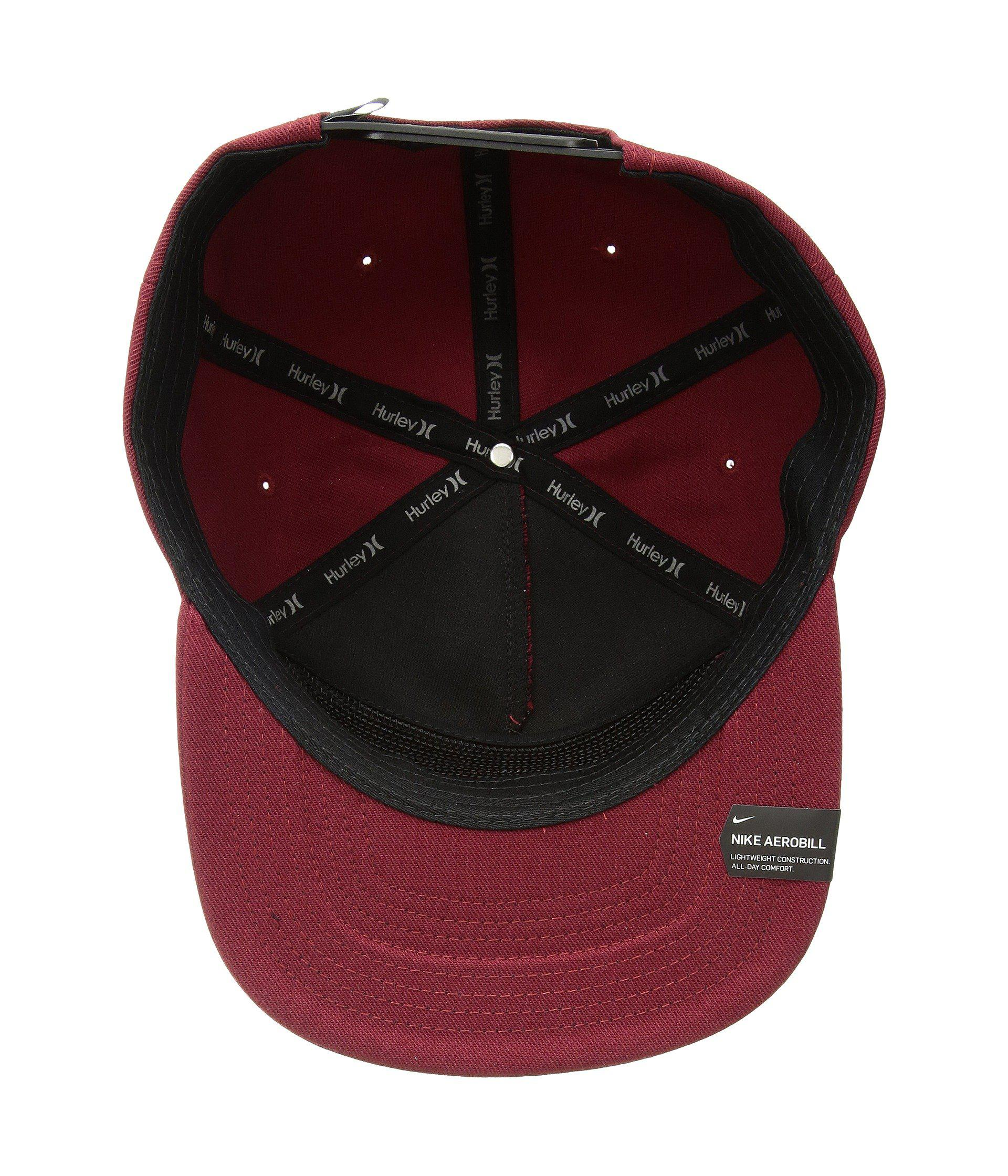 e9bcf39e08d Lyst - Hurley Circular Hat (anthracite) Caps in Red for Men