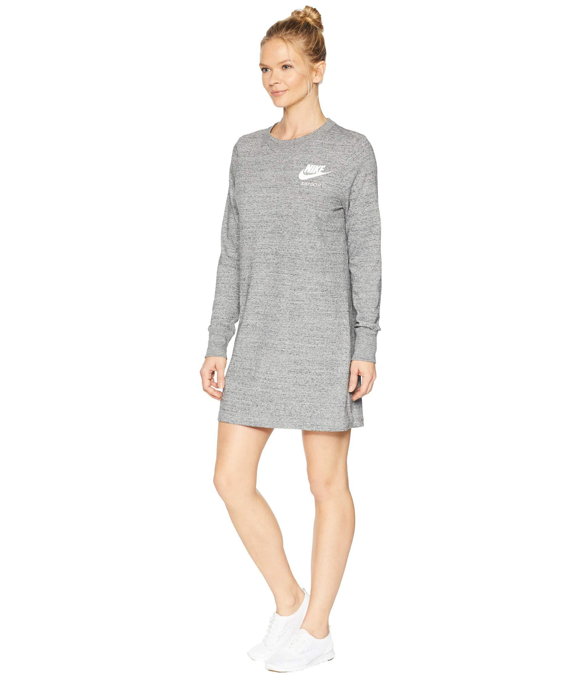 54e8b4a847f13 Lyst - Nike Sportswear Dress (carbon Heather/sail 1) Women's Dress in Black