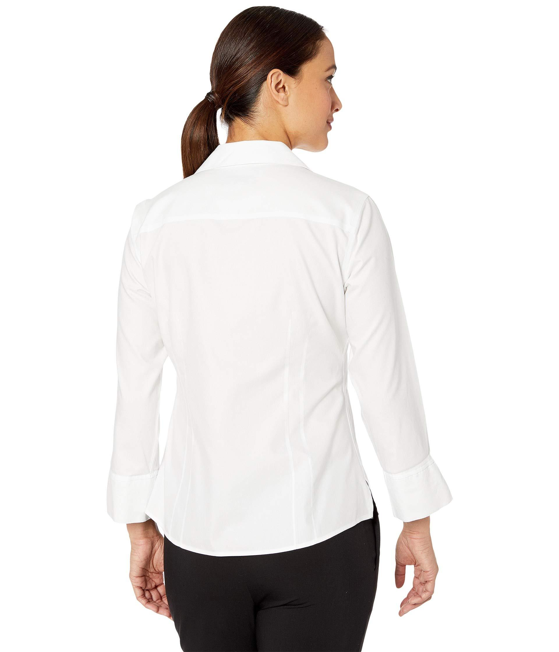 8c84c86d6ee440 Foxcroft - Petite Taylor Pinpoint Non Iron (white) Women's Clothing - Lyst.  View fullscreen