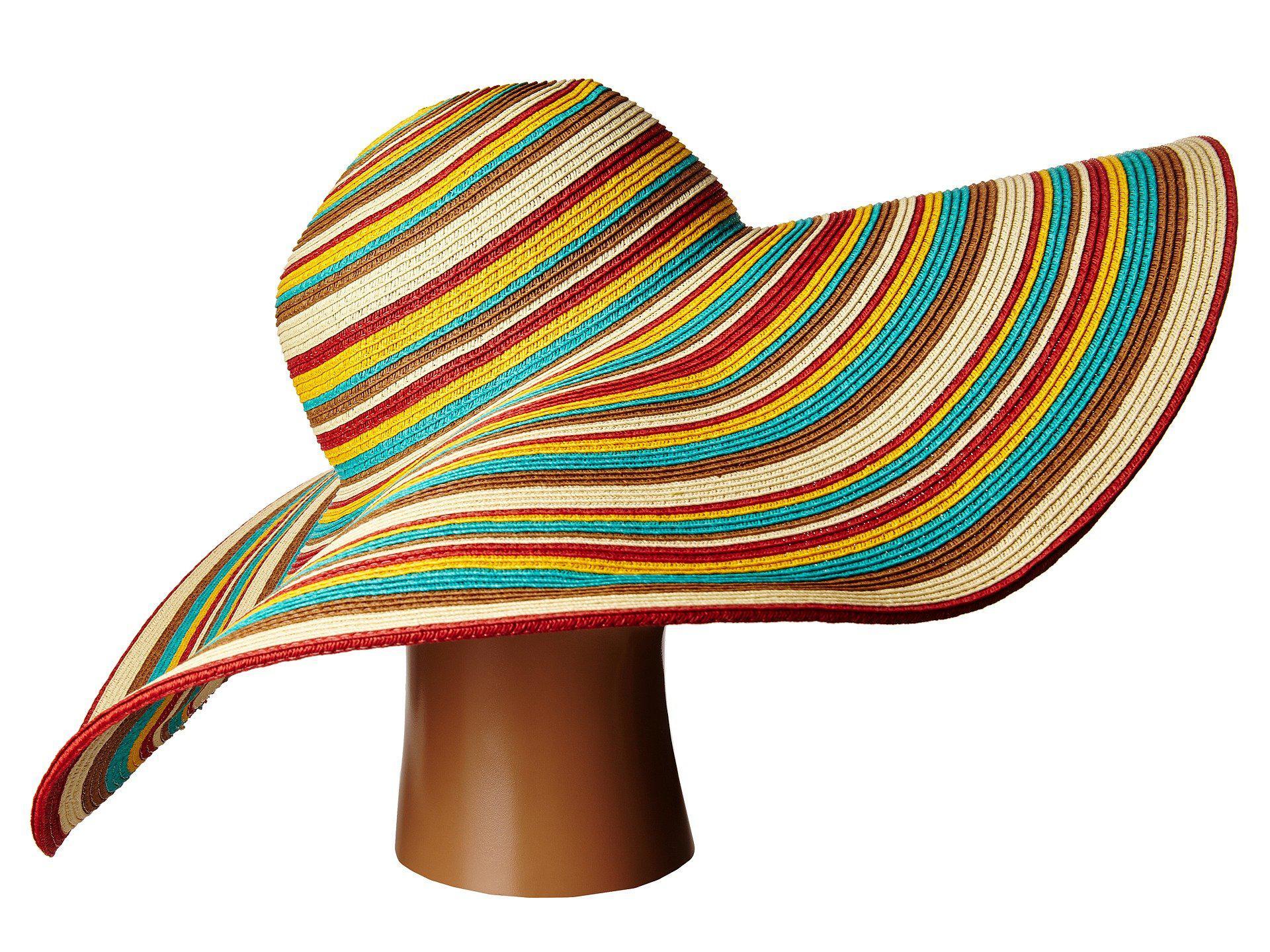 fe78f06a275c4 San Diego Hat Company Ubx2721 Striped Floppy 8 Inch Brim Sun Hat (multi  Black) Caps in Brown - Save 52% - Lyst